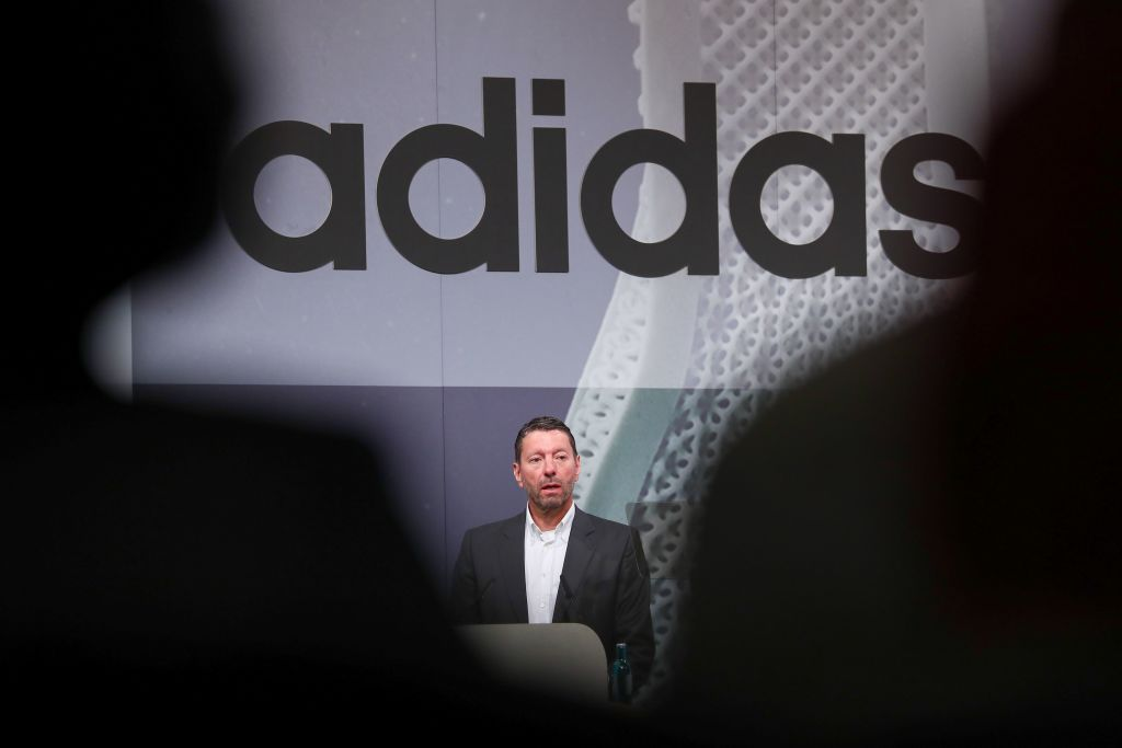 Adidas CEO said a currency war would hurt the brand more than tariffs.