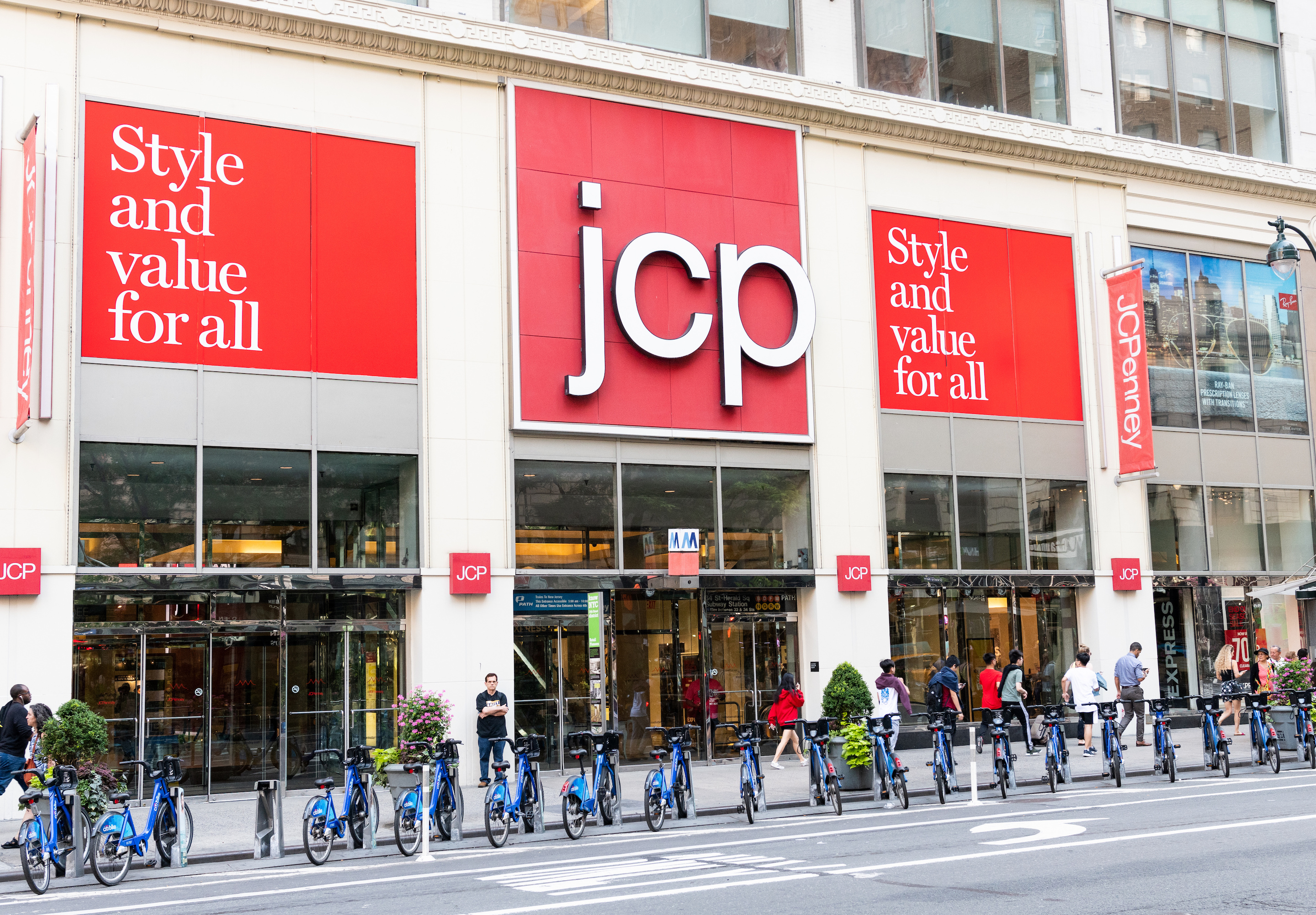 A J.C. Penny in New York City. The national chain is seeking new ways to turn its business around.
