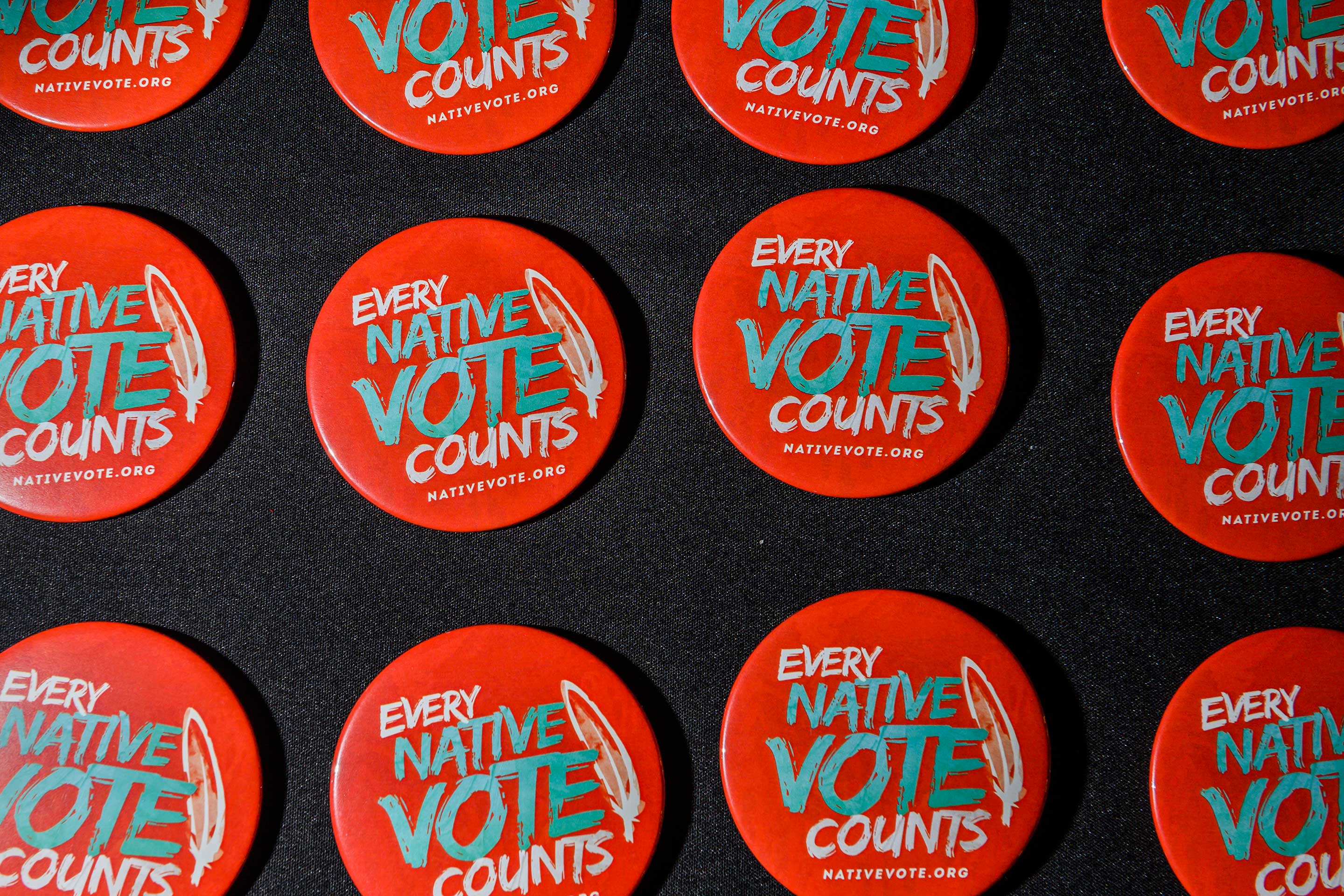 Native American Presidential Forum buttons