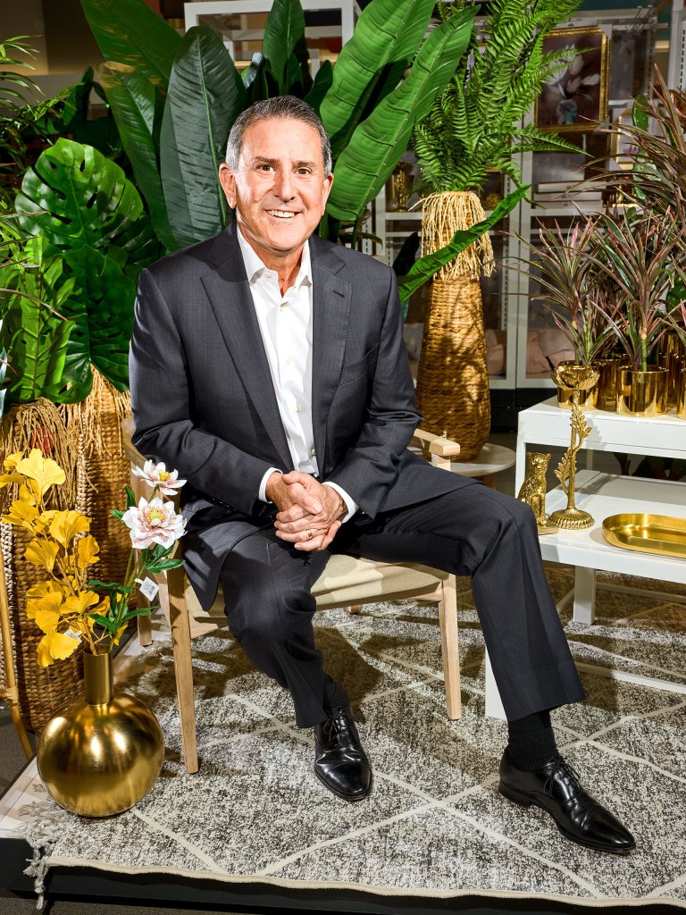 Target CEO Brian Cornell, photographed in the home decor section of a Target in Minneapolis.