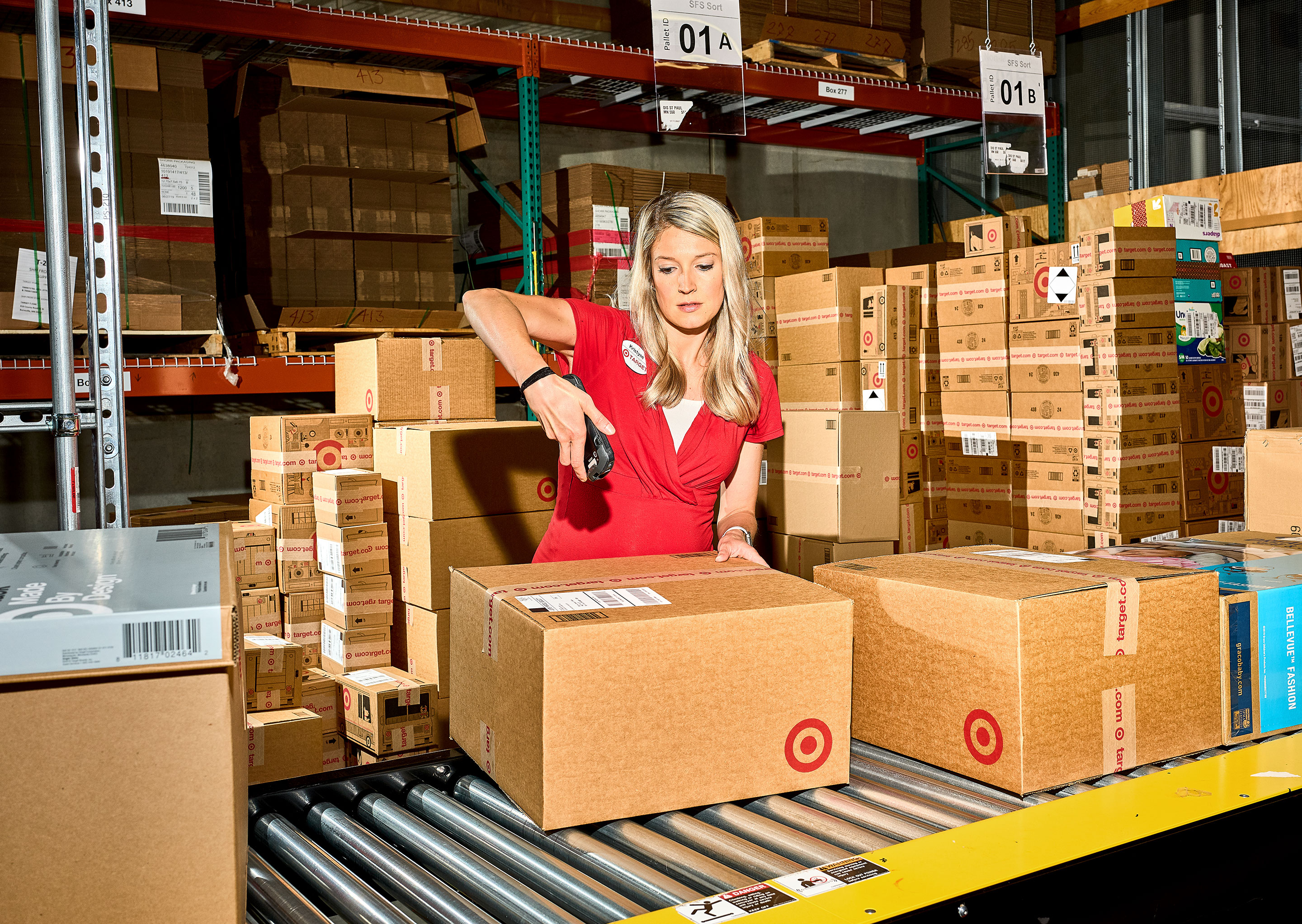 Prepping orders for delivery at a Target in Burnsville, Minn.