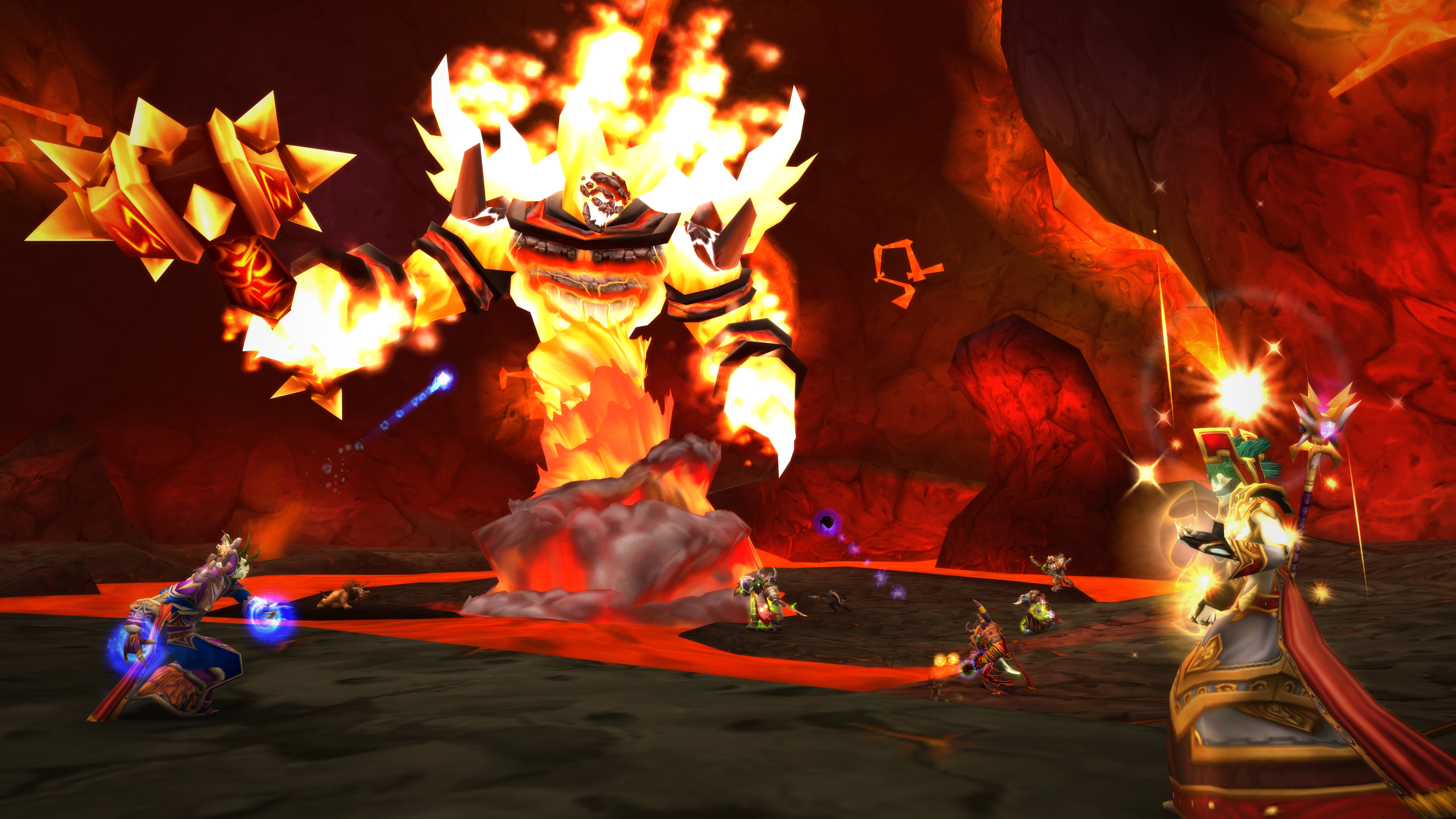 Ragnaros, one of the original big baddies of World of Warcraft, rages back to life in World of Warcraft Classic.