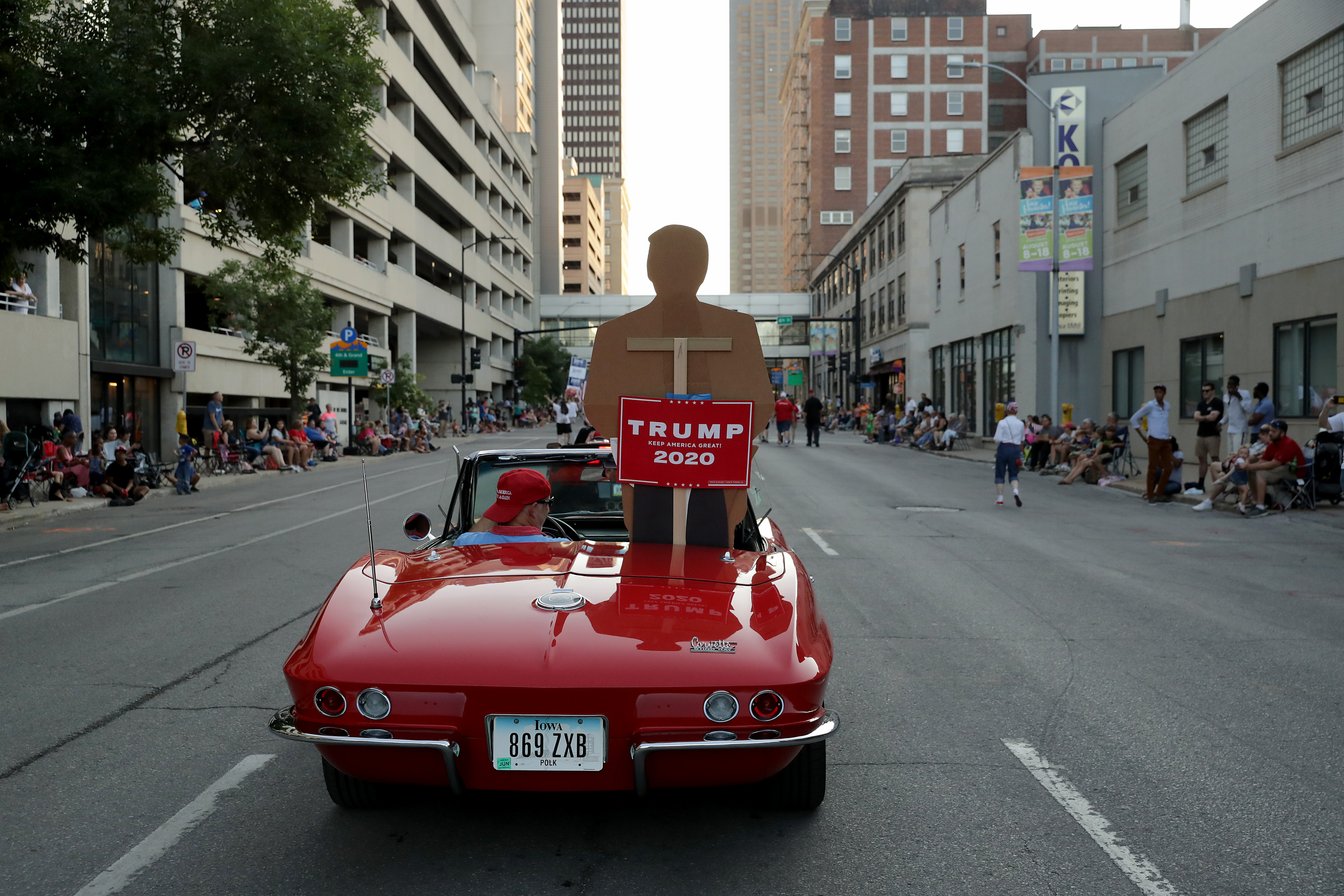 Iowa State Fair Parade Trump
