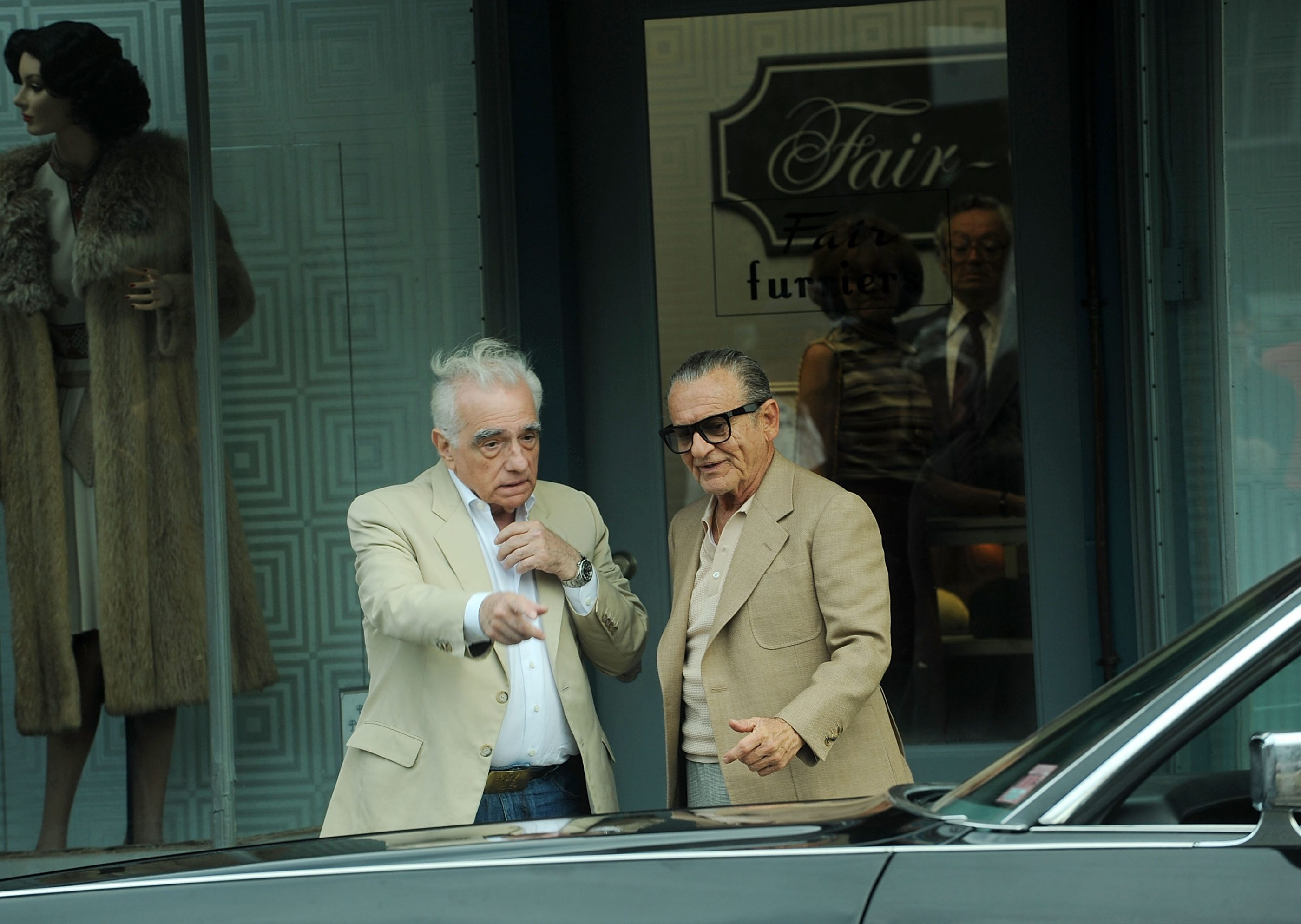 Director Martin Scorsese and Joe Pesci