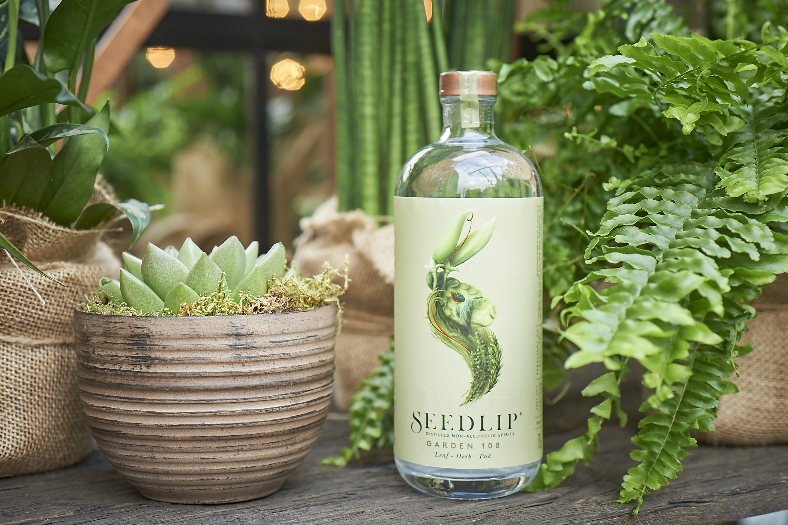 Seedlip's Garden 108, a non-alcoholic spirit crafted to reflect and celebrate the English countryside.