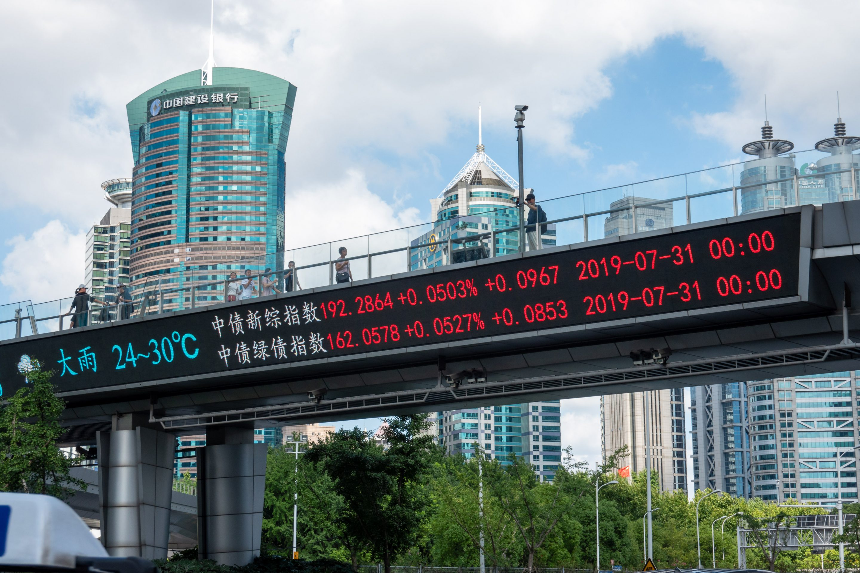 shanghai stock index overpass