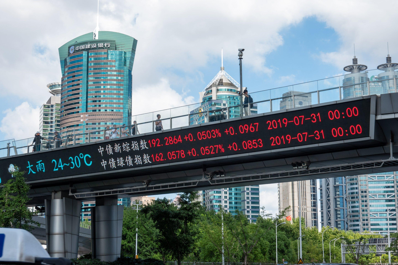 shanghai stock index overpass