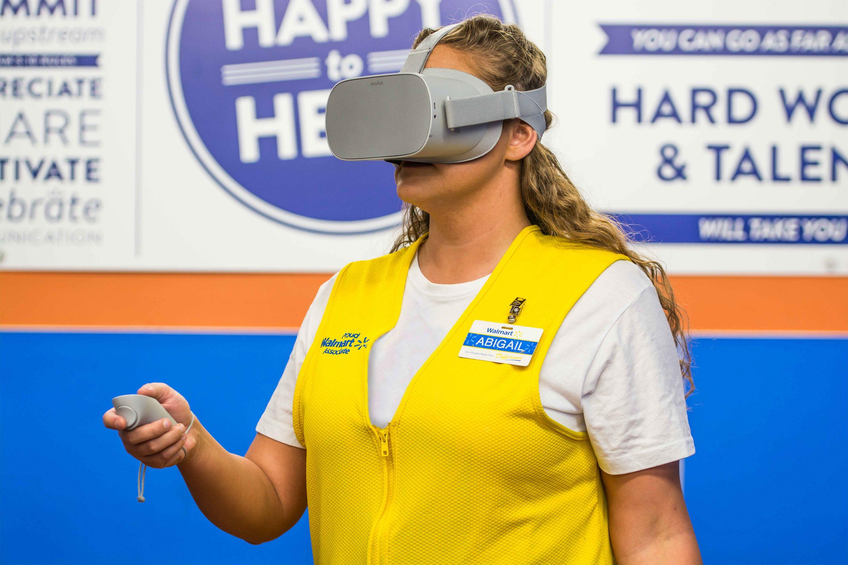 Walmart employee using VR