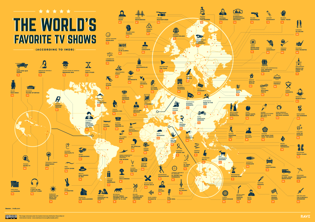 Here's Every Country's Favorite TV Show, Mapped | Fortune
