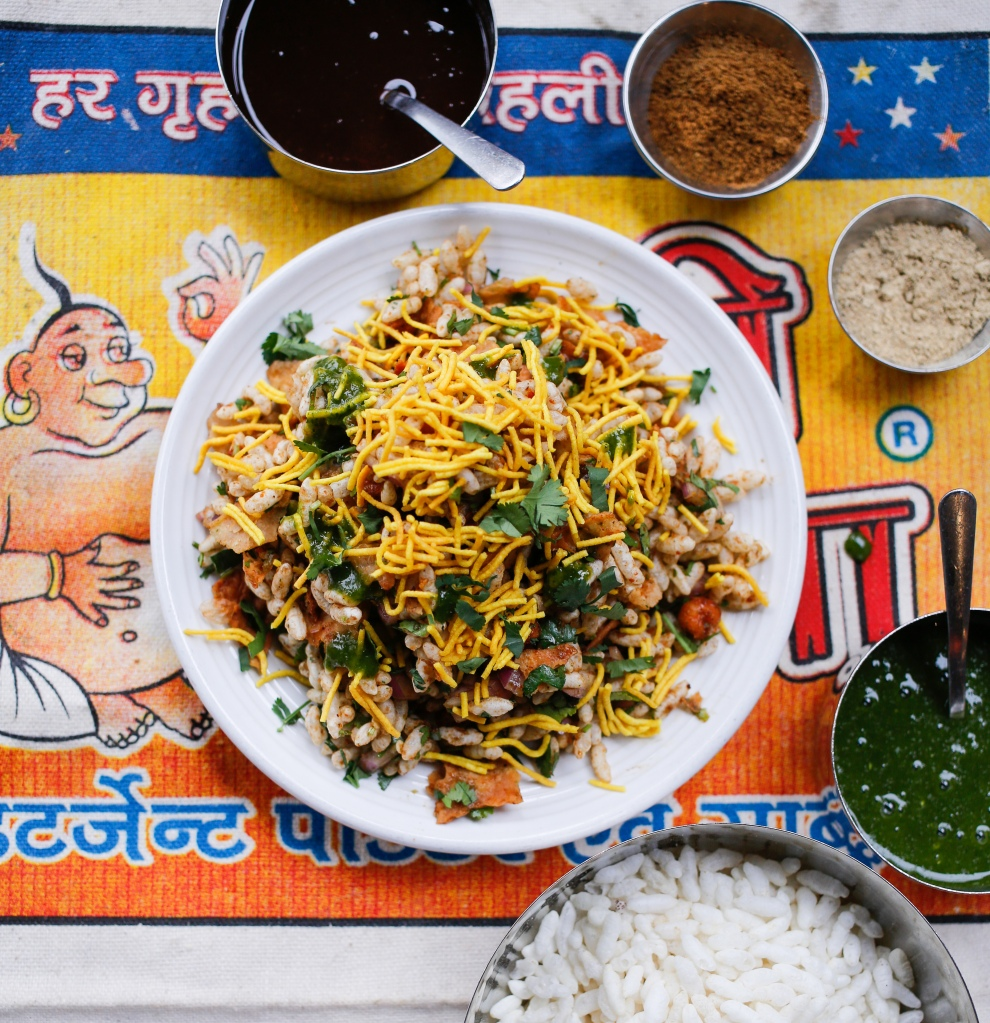Bhel Puri with Ingredients - Molly Milroy