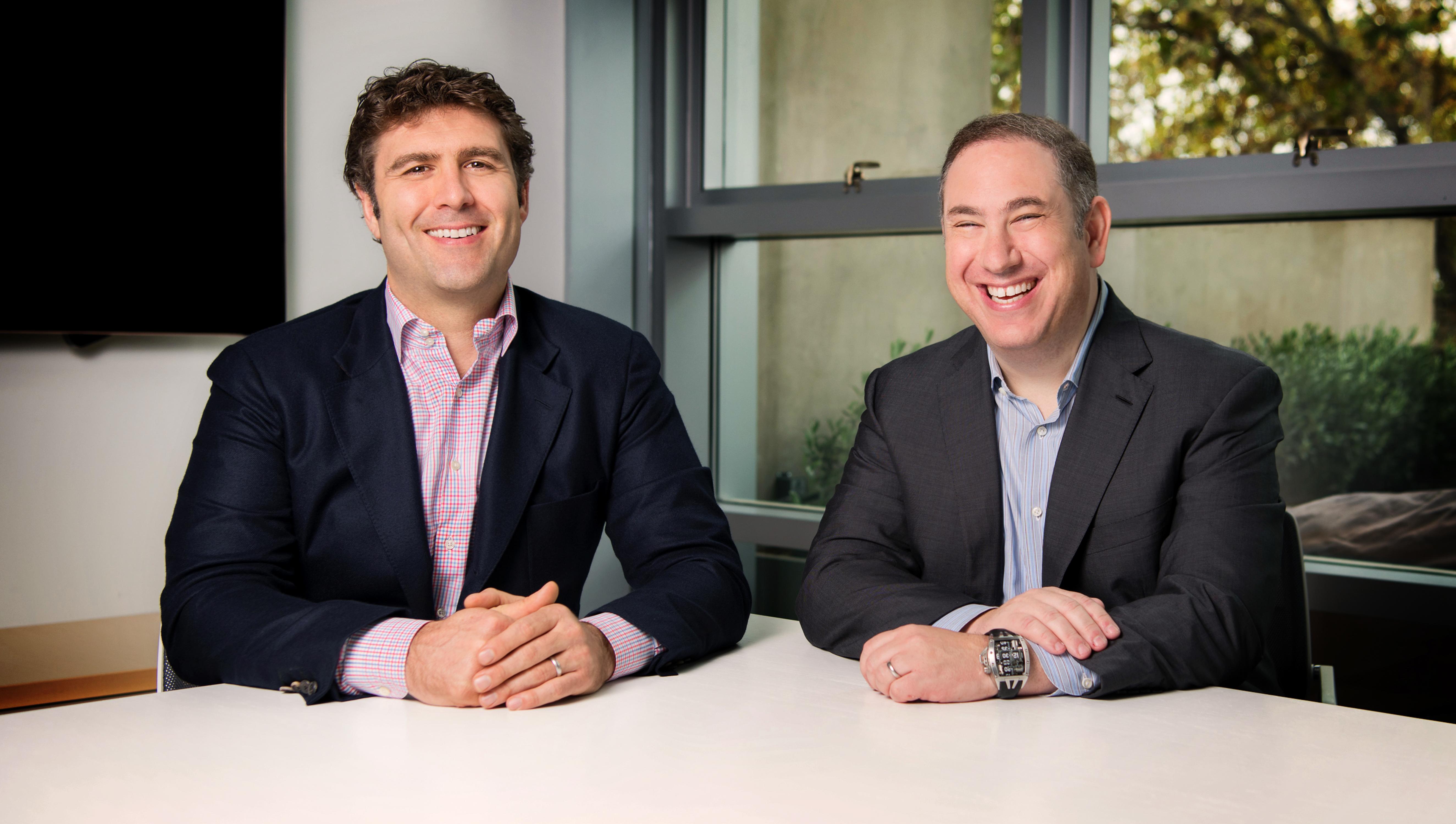 DCVC's managing partners Zack Bogue (left) and Matt Ocko (right)