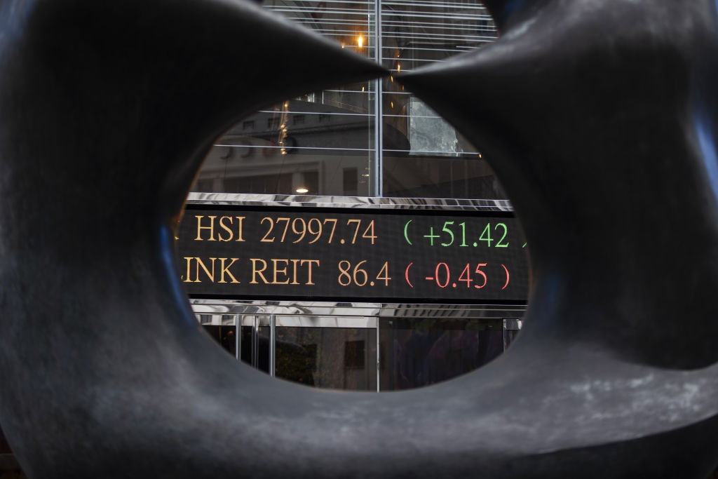 Hong Kong Stock Exchange As China's Bullish Start to Year Gains Momentum