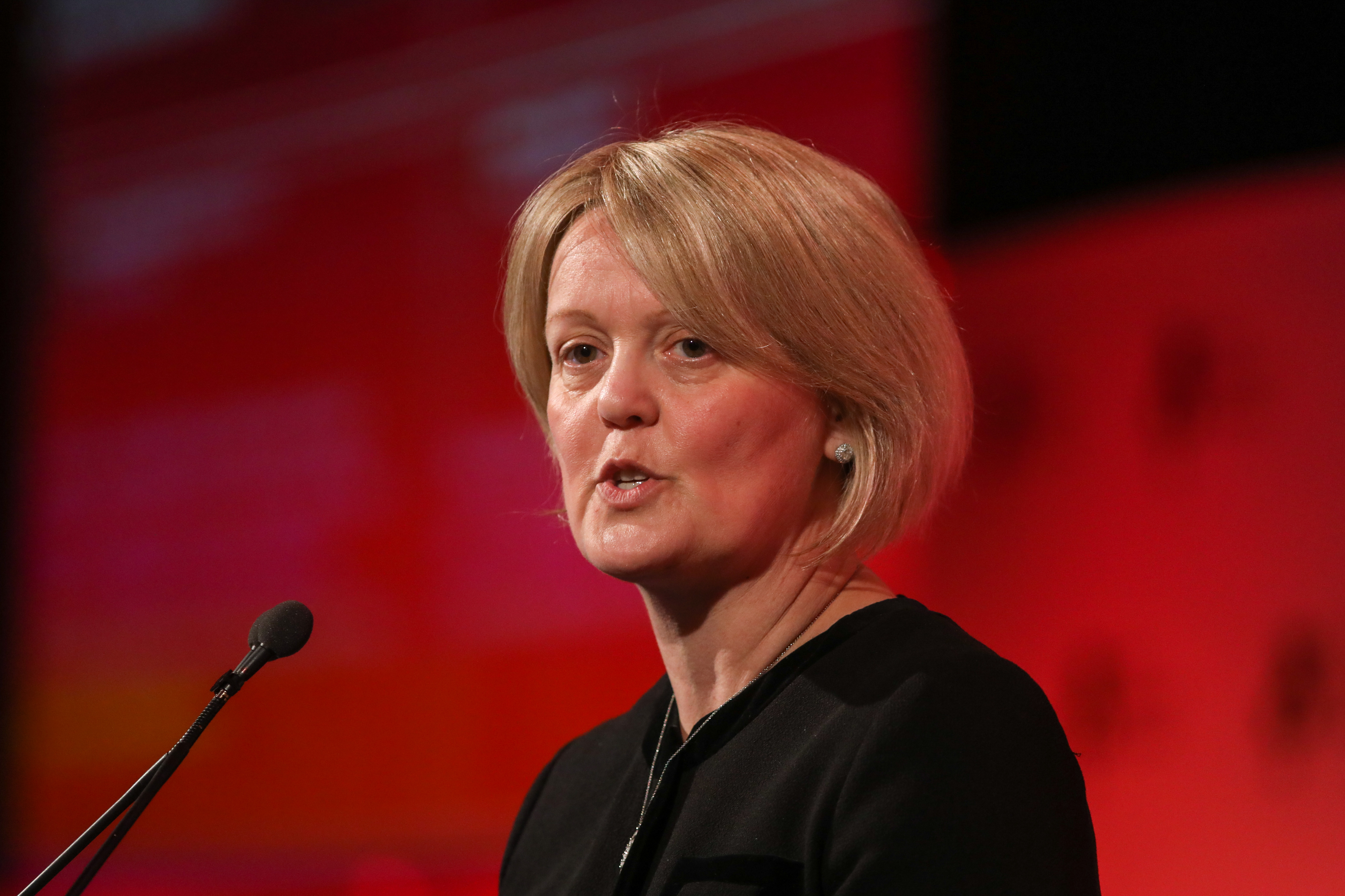 Alison Rose, deputy chief executive officer of Natwest Holdings Ltd., speaks at the British Chambers of Commerce Annual Conference 2019 in London, U.K., on Thursday, March 28, 2019. Last night's stalemate in U.K. Parliament provided little clarity for the countrys equities, with several political options still on the table, strategists and investors say. Photographer: Chris Ratcliffe/Bloomberg via Getty Images