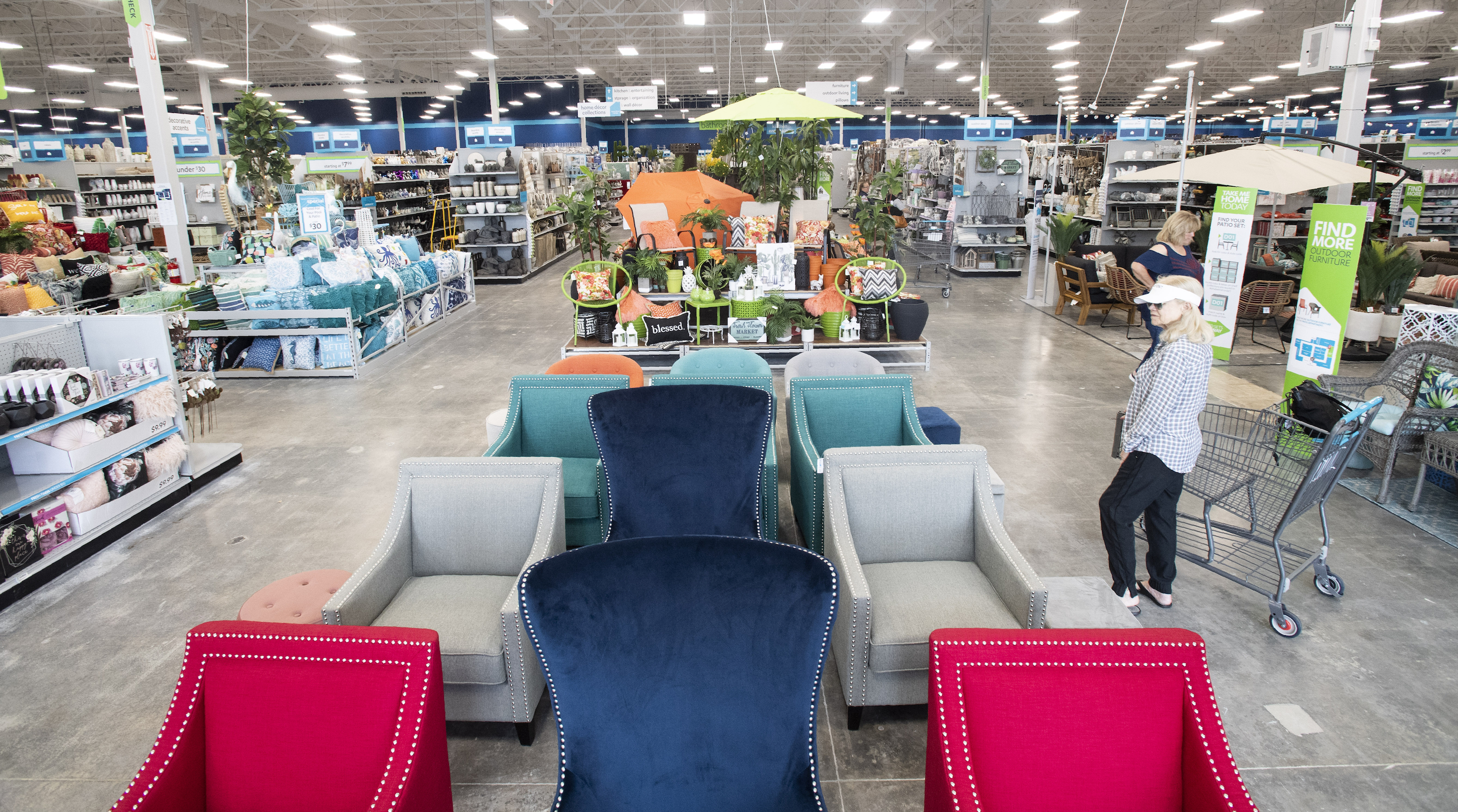 An At Home store, which opened this spring in Foothill Ranch, Calif. The home decor chain's low-price strategy has been slammed by punitive tariffs on Chinese imports instigated by President Trump.