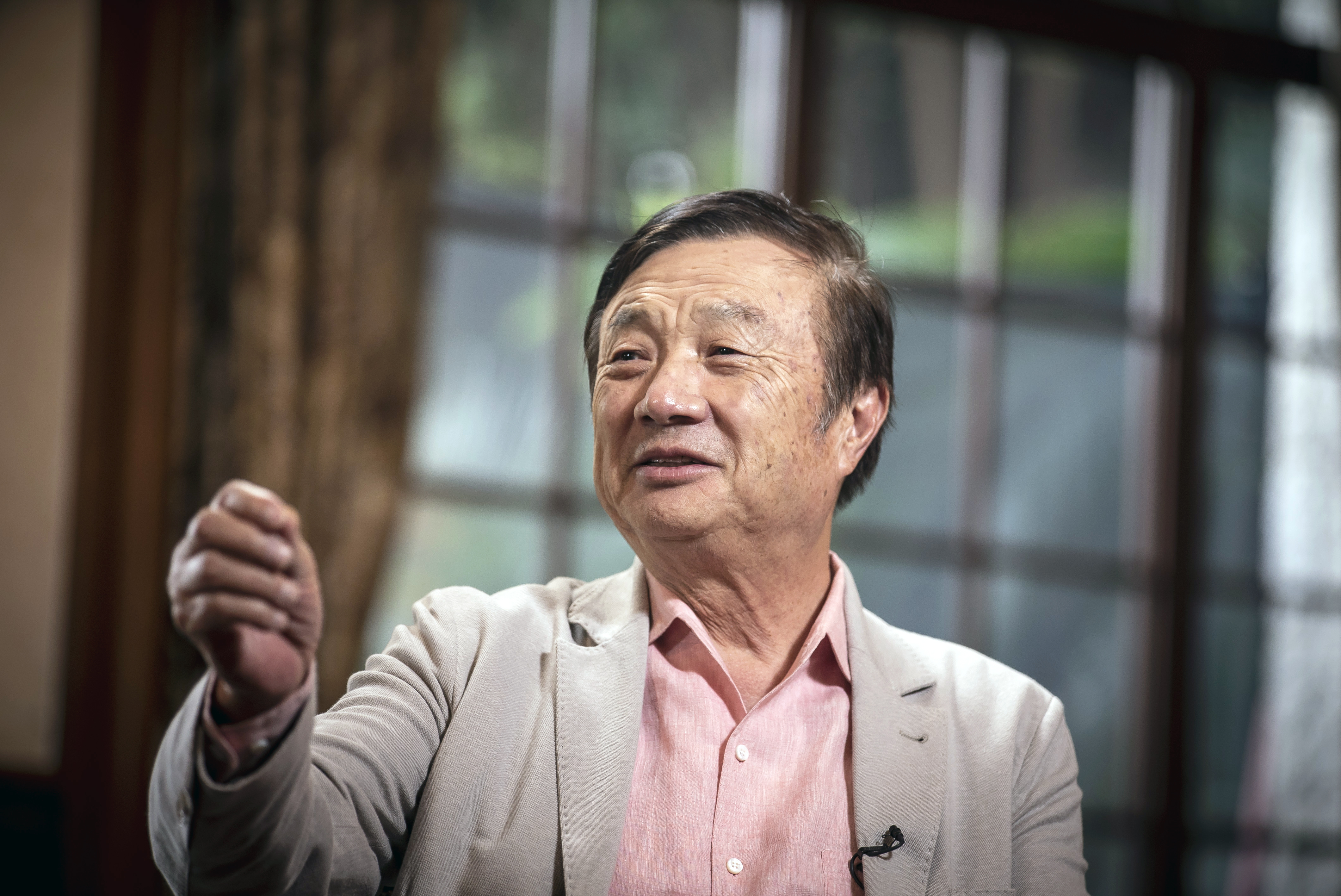 Ren Zhengfei, founder and chief executive officer of Huawei Technologies Co., speaks during a Bloomberg Television interview at the company's headquarters in Shenzhen, China, on Friday, May 24, 2019.