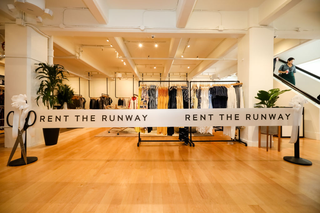 Just before the launch of Rent the Runway's West Coast flagship store on May 8, 2019, in San Francisco.