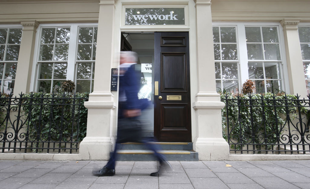 A WeWork, at Soho Square, London. The company has grown to become London's largest landlord