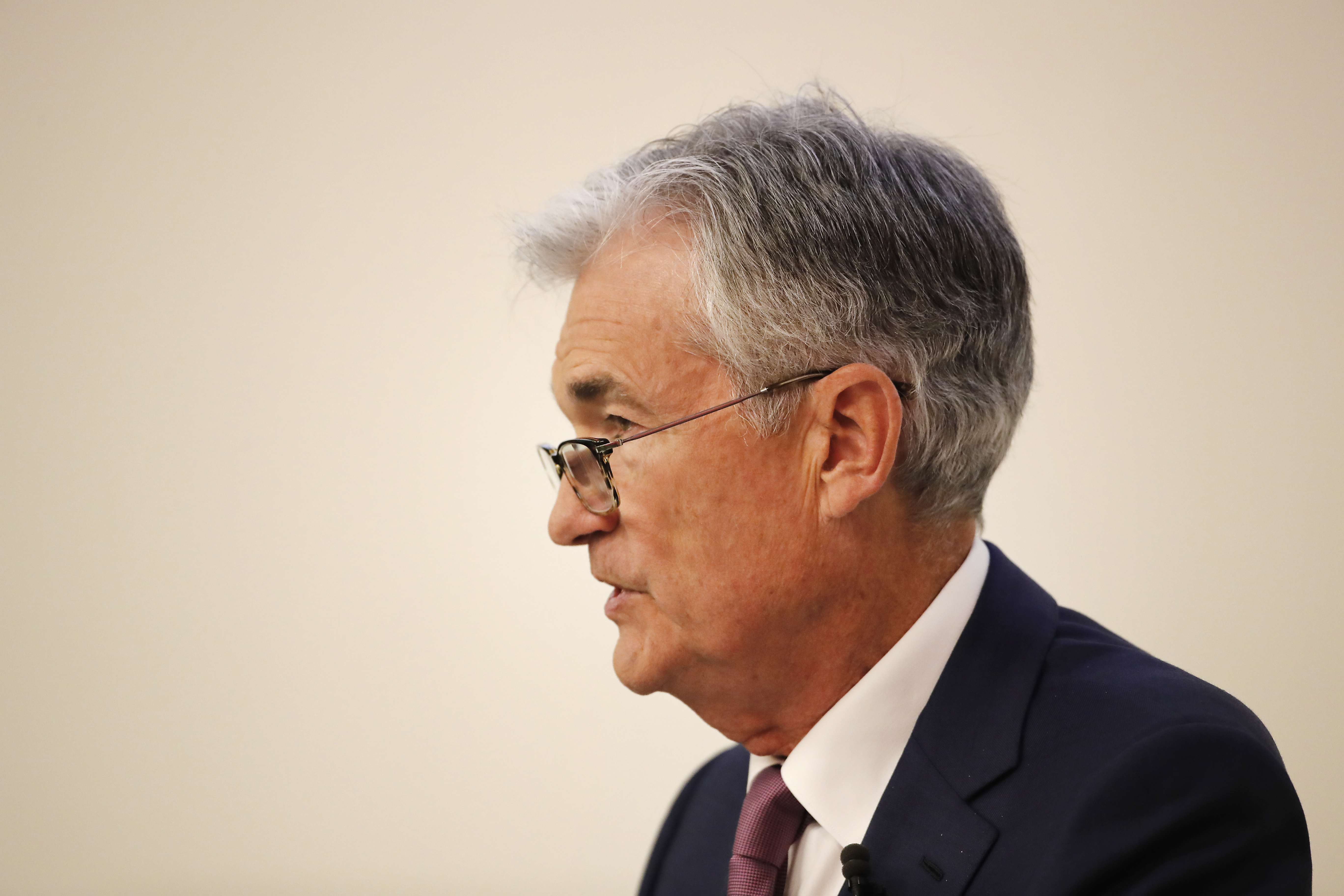 Jerome Powell, chairman of the U.S. Federal Reserve, speaks during an event at the University of Zurich in Zurich, Switzerland, on Friday, Sept. 6, 2019.
