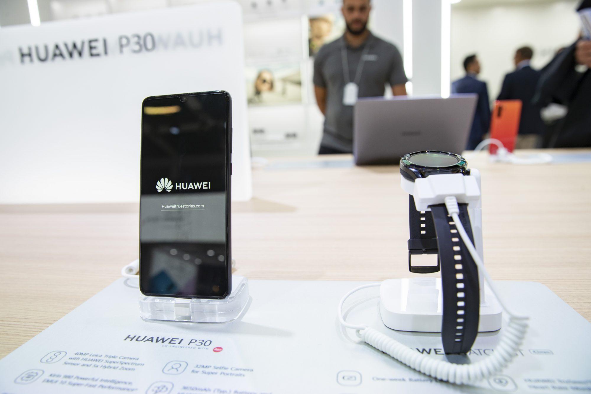huawei phones on display in berlin
