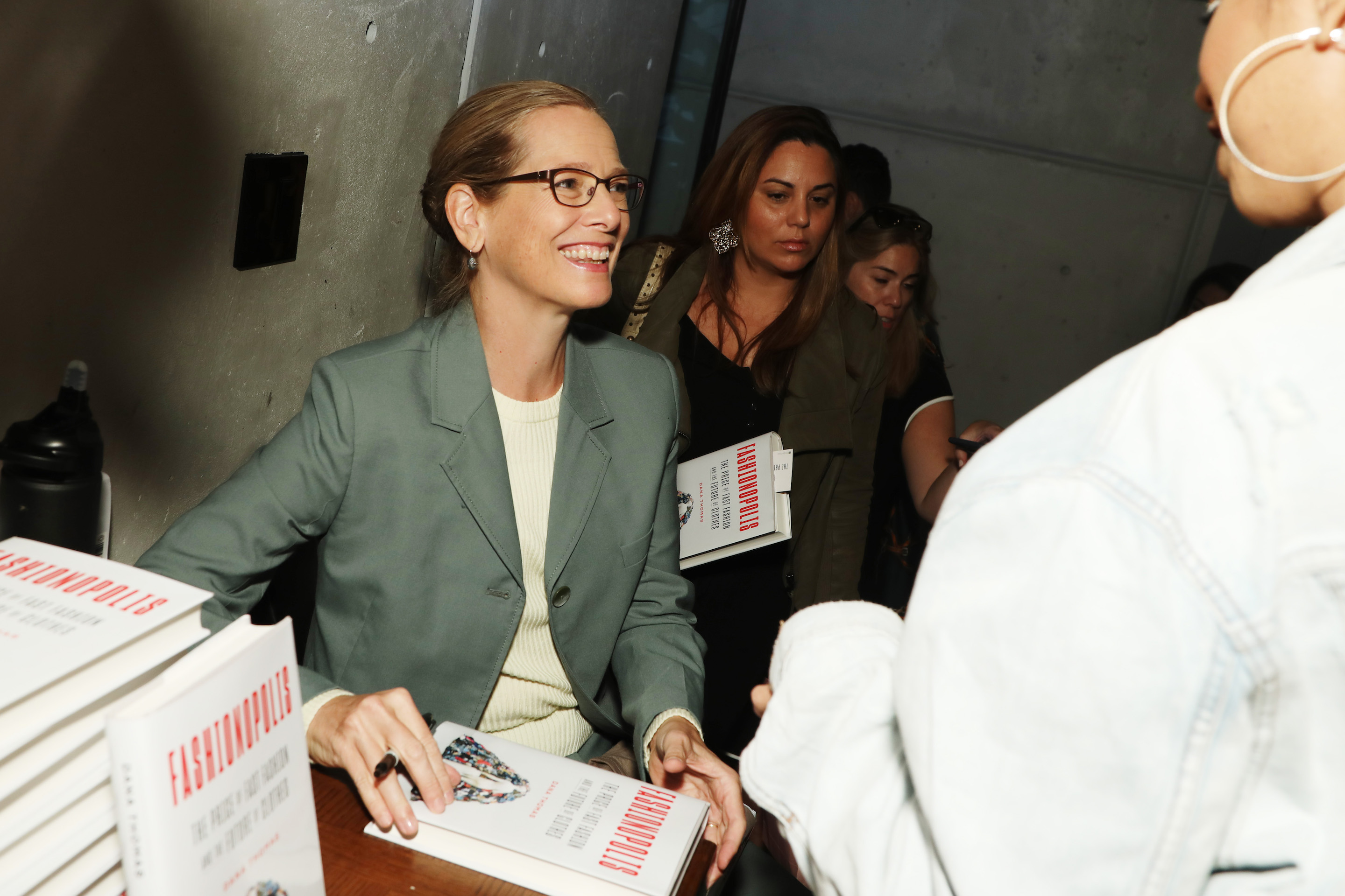 Dana Thomas, author of Fashionopolis, at a Sept. 6 book signing during New York Fashion Week.