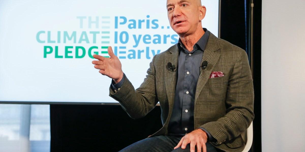 Jeff Bezos Details Amazon's Net-Zero Carbon Emissions 2040 Goal