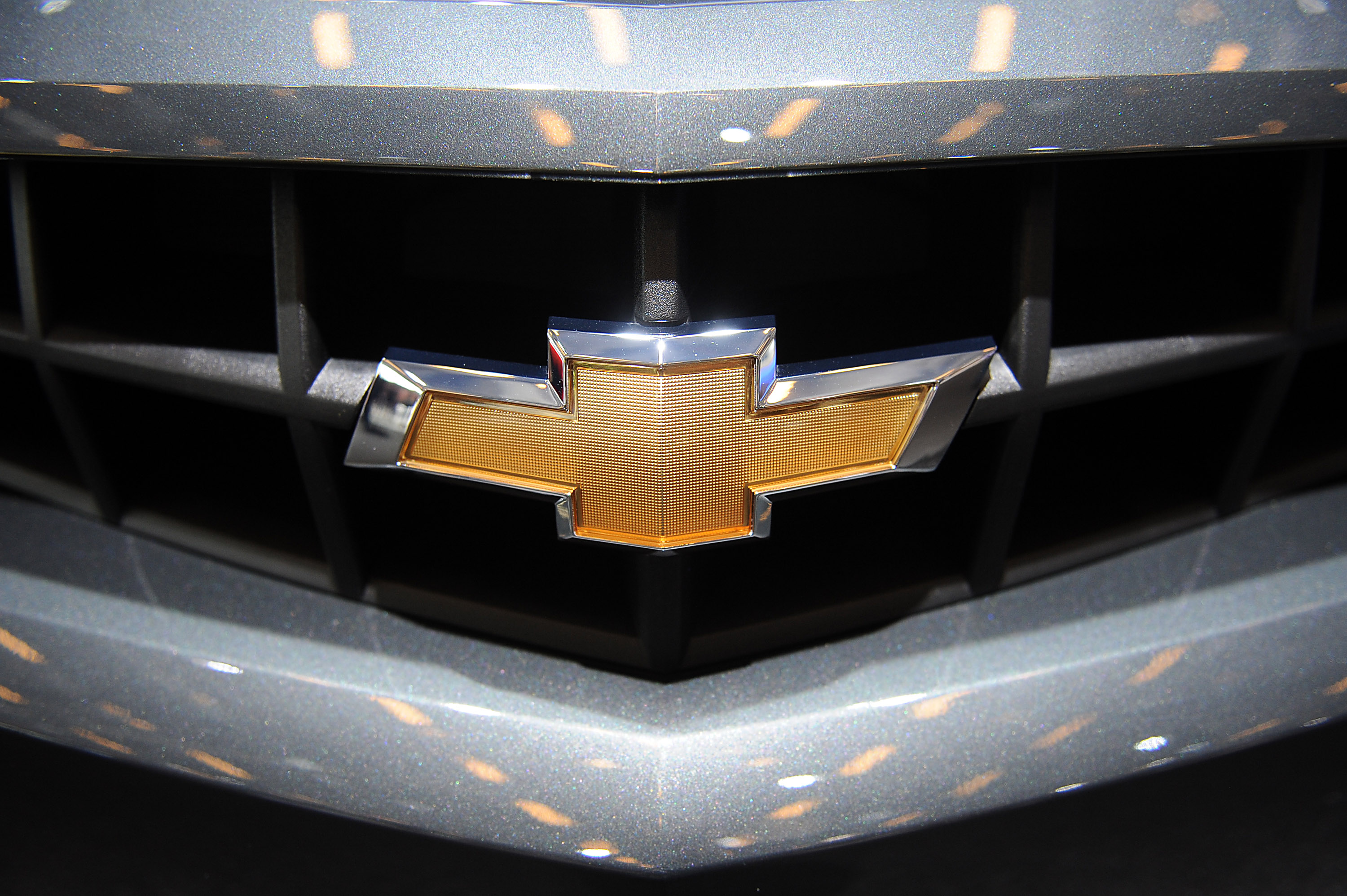 A Chevrolet logo is seen on a Chevrolet Trax.