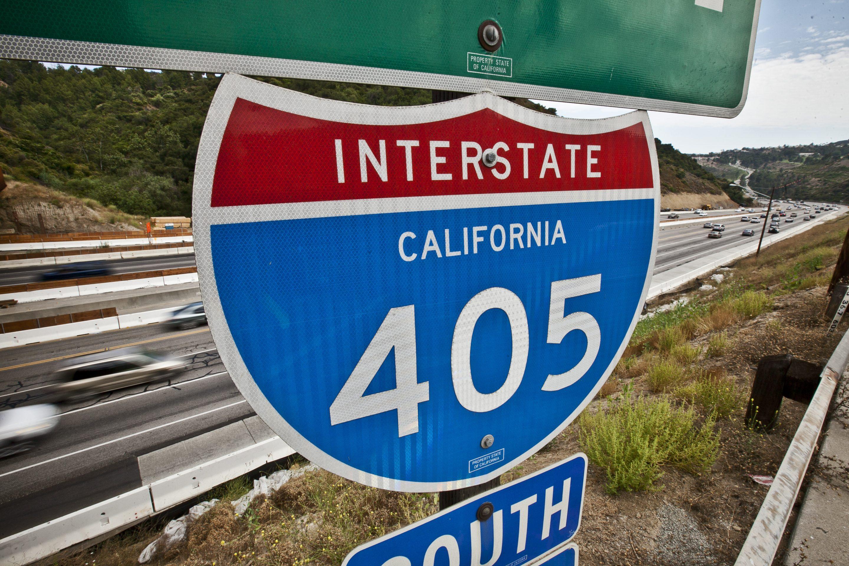 USA - Transportation - 405 Freeway in Los Angeles