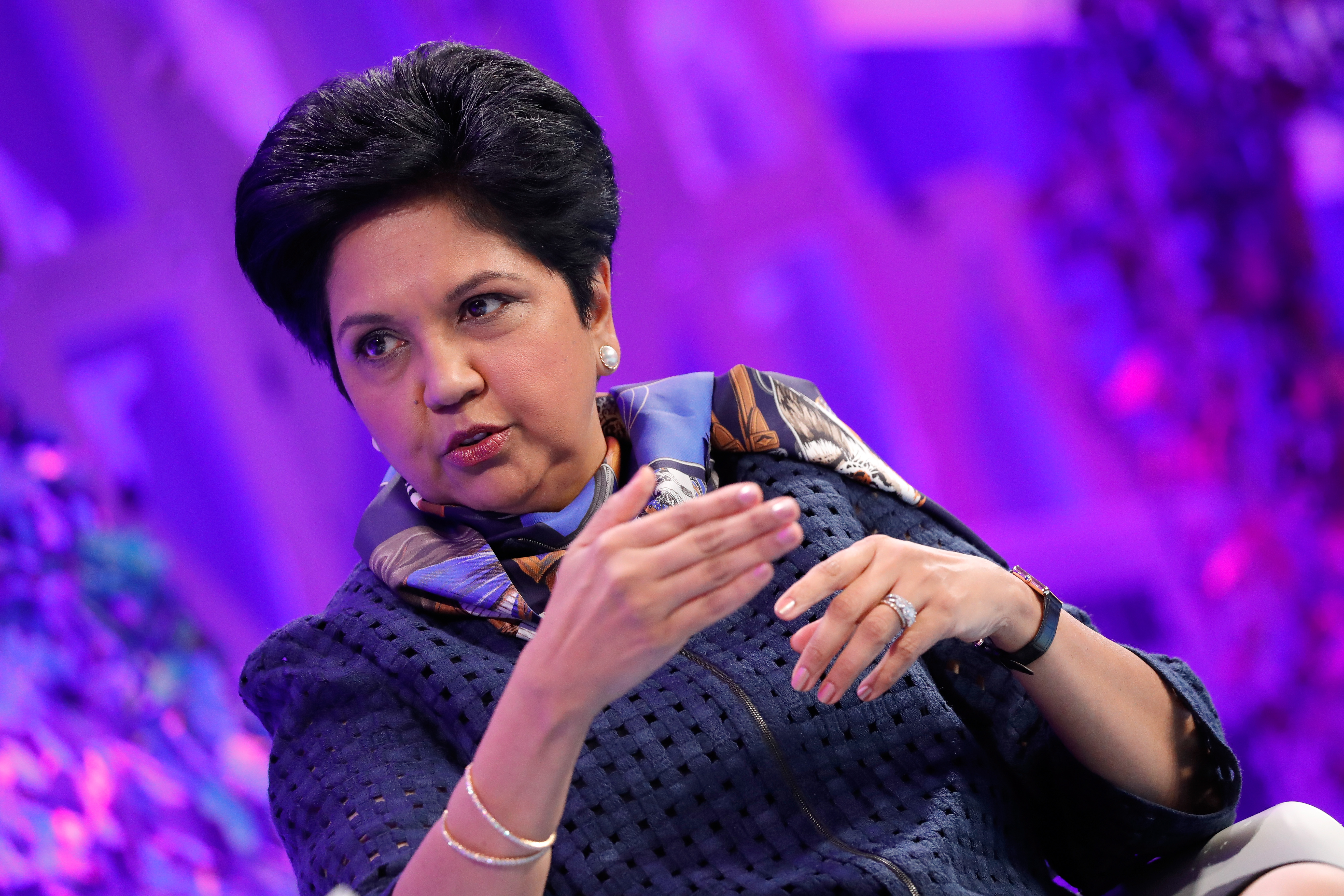 Former Pepsi Chairman and CEO Indra Nooyi spoke at Fortune's MPW International Summit on Monday about her new book.
