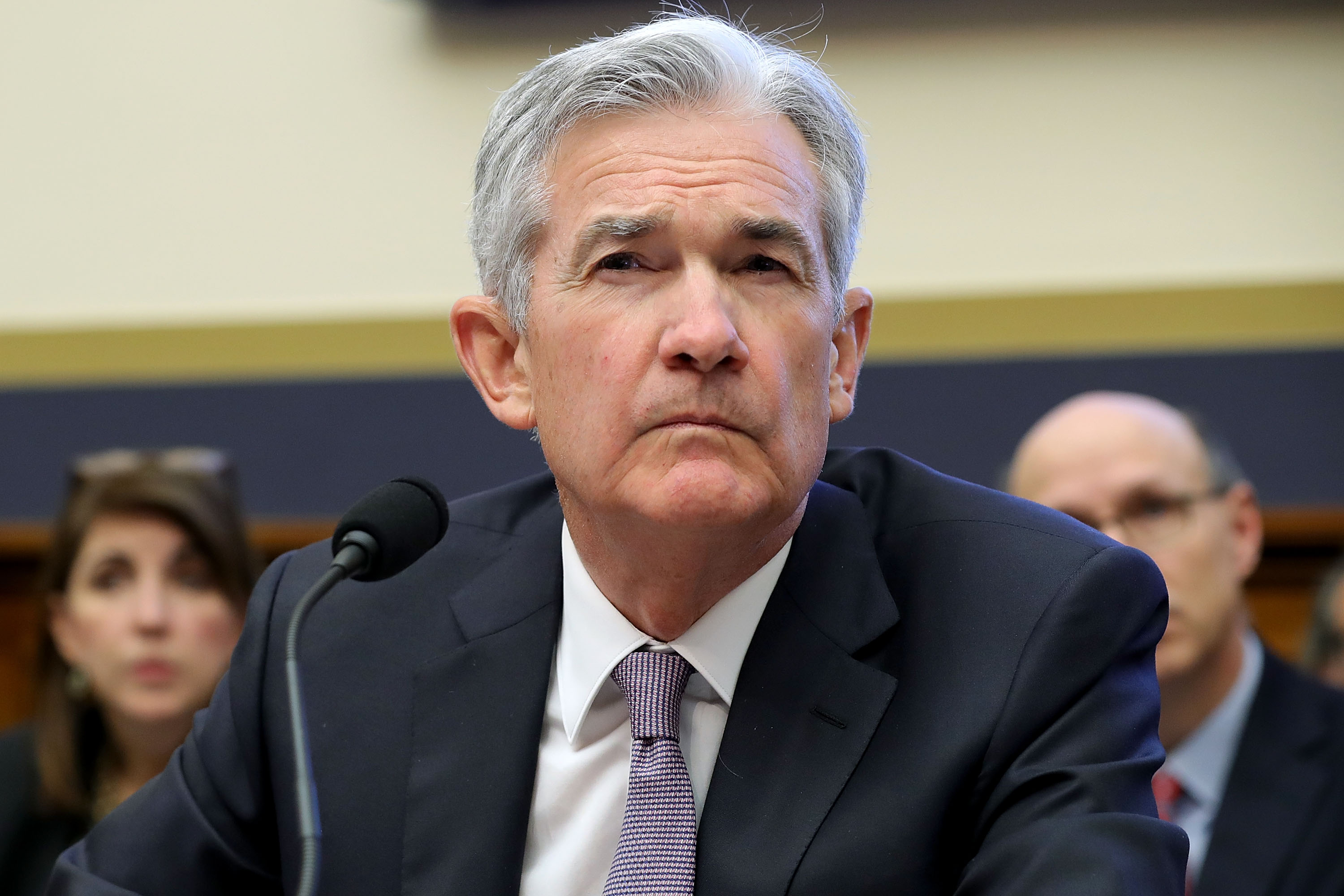 WASHINGTON, DC - FEBRUARY 27:  Federal Reserve Board Chairman Jerome Powell testifies before the House Financial Services Committee  (Photo by Chip Somodevilla/Getty Images)