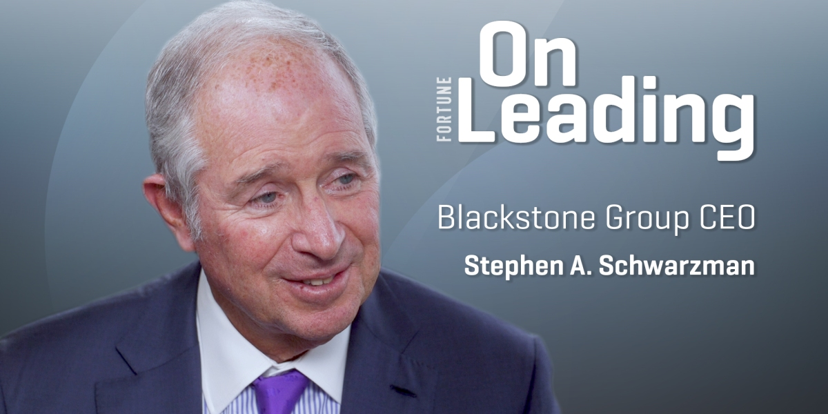 Blackstone CEO Steve Schwarzman Says Recession Is 'Unlikely Now'