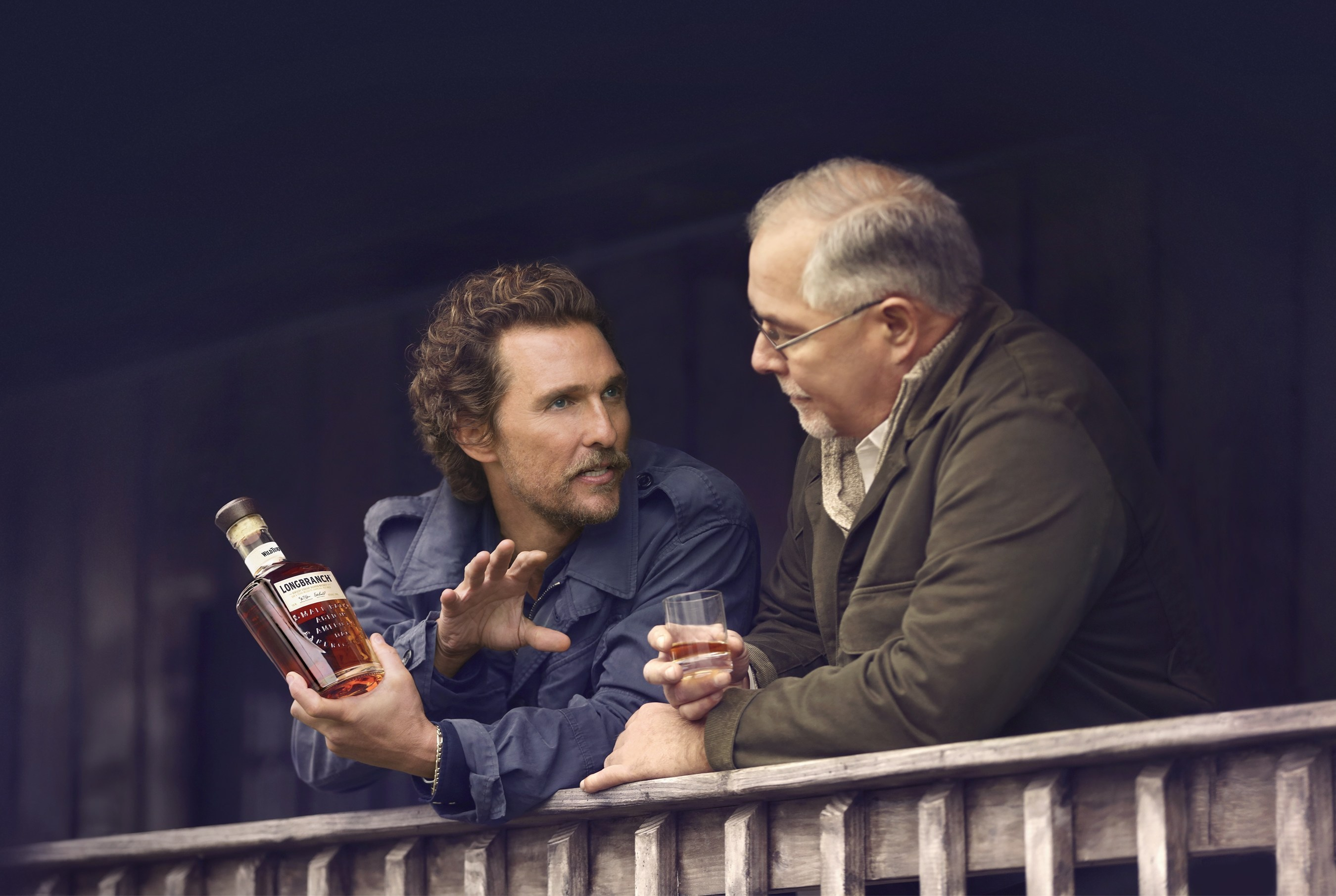 "Longbranch is a collaboration of Wild Turkey's ""creative director"" Matthew McConaughey and master distiller Eddie Russell."