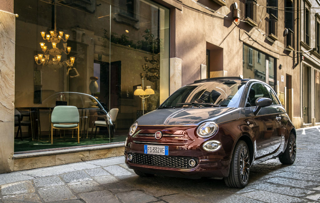A Fiat 500 in Milan, Italy. Fiat Chrysler Automobiles announced that it will discontinue sales of the Fiat 500 subcompact and the 500e electric subcompact in the U.S.