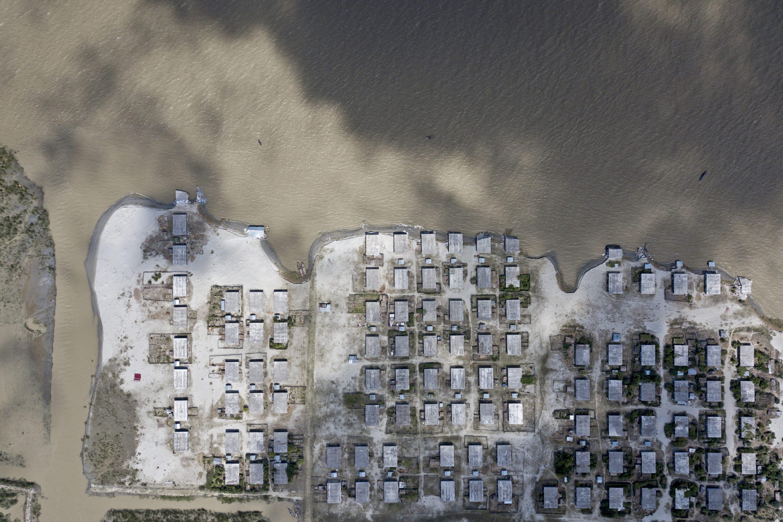 aerial view flooding Bangladesh 2019