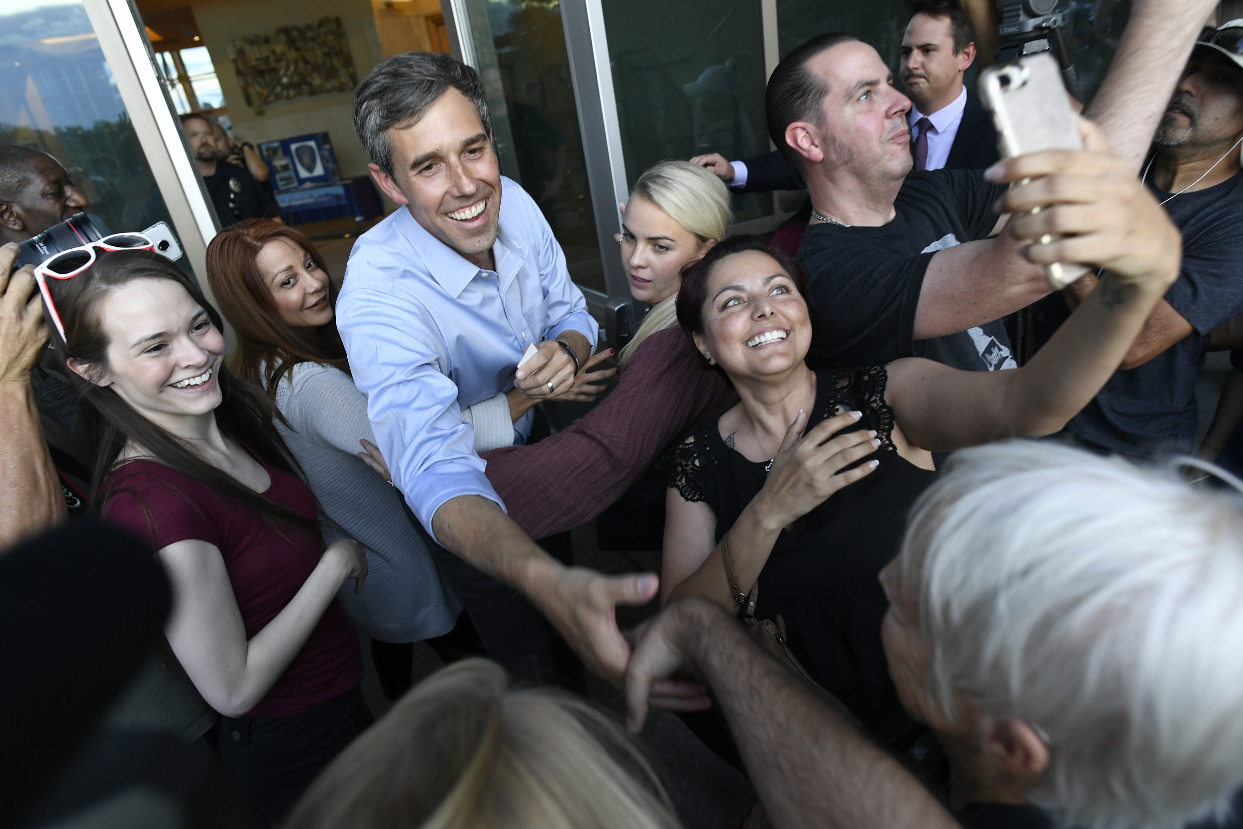 Democratic presidential candidate Beto O'Rourke holds town hall meeting in Aurora.