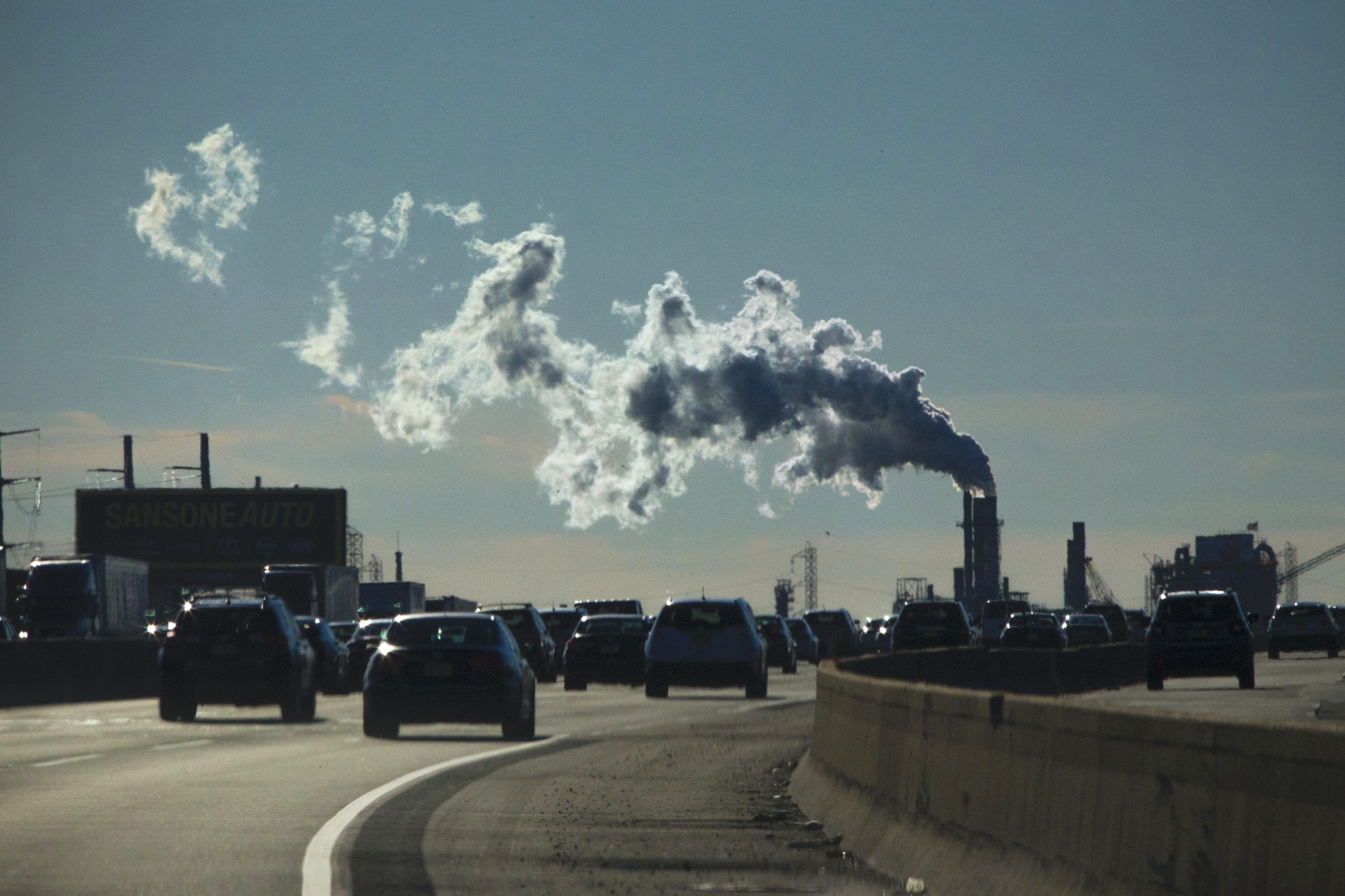 cars factory pollution NJ Turnpike