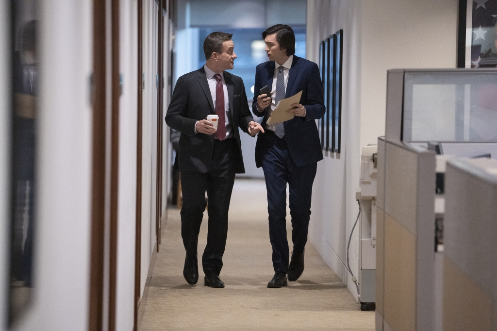 Tom and Greg in Season 2 of Succession