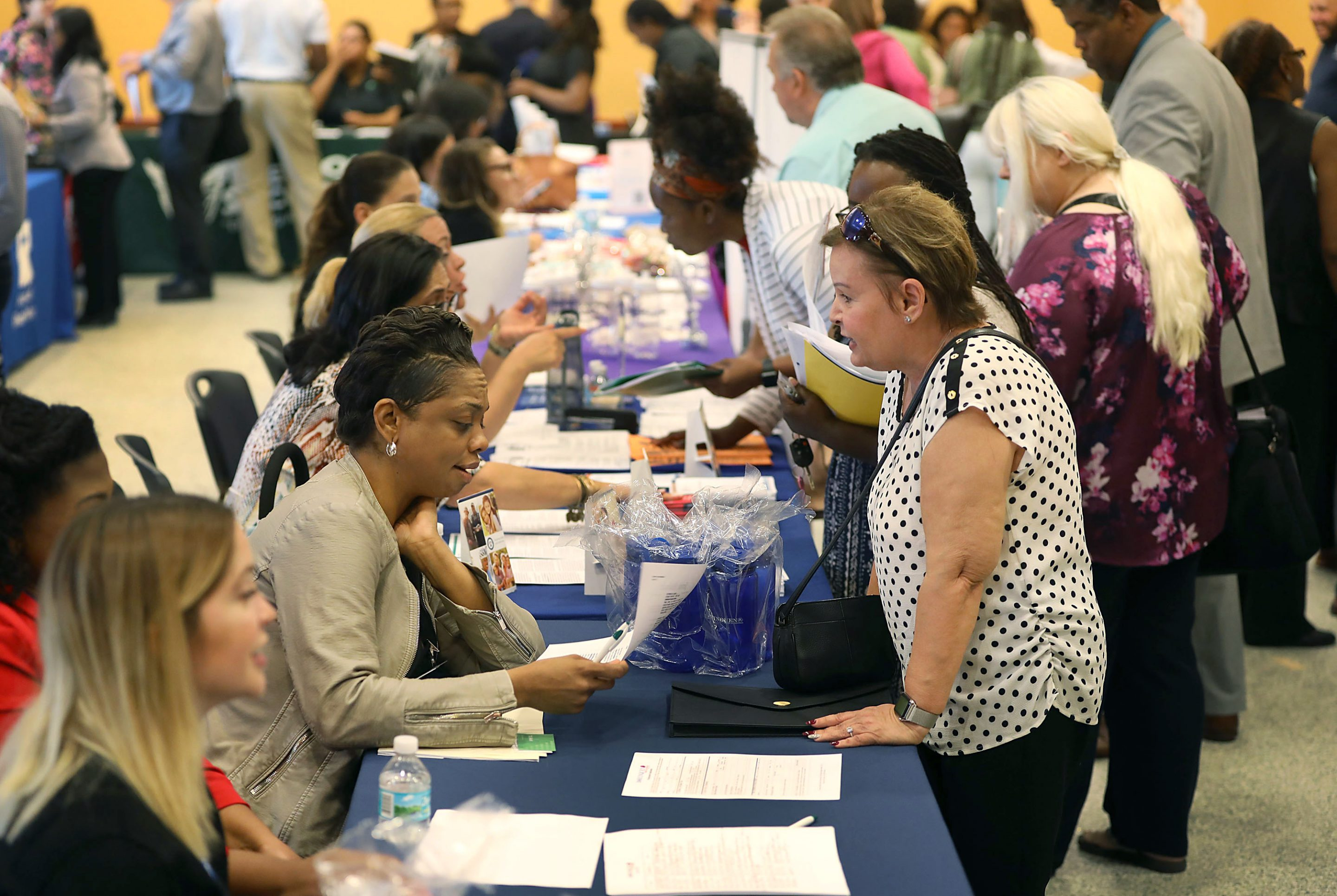 people at a job fair 2019