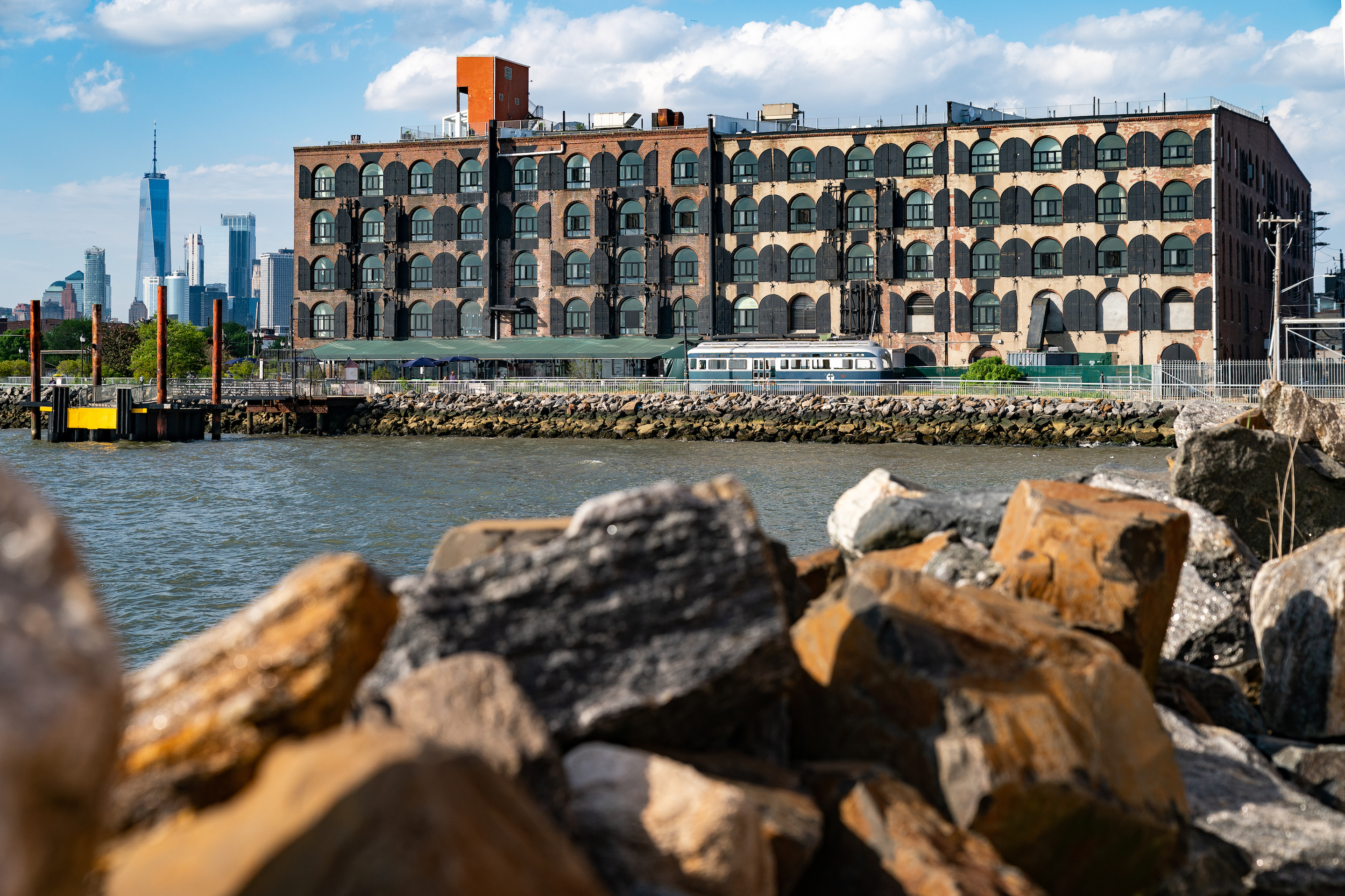 A building stands on the waterfront in the Red Hook neighborhood of the Brooklyn borough of New York, U.S., on Monday, May 20, 2019.