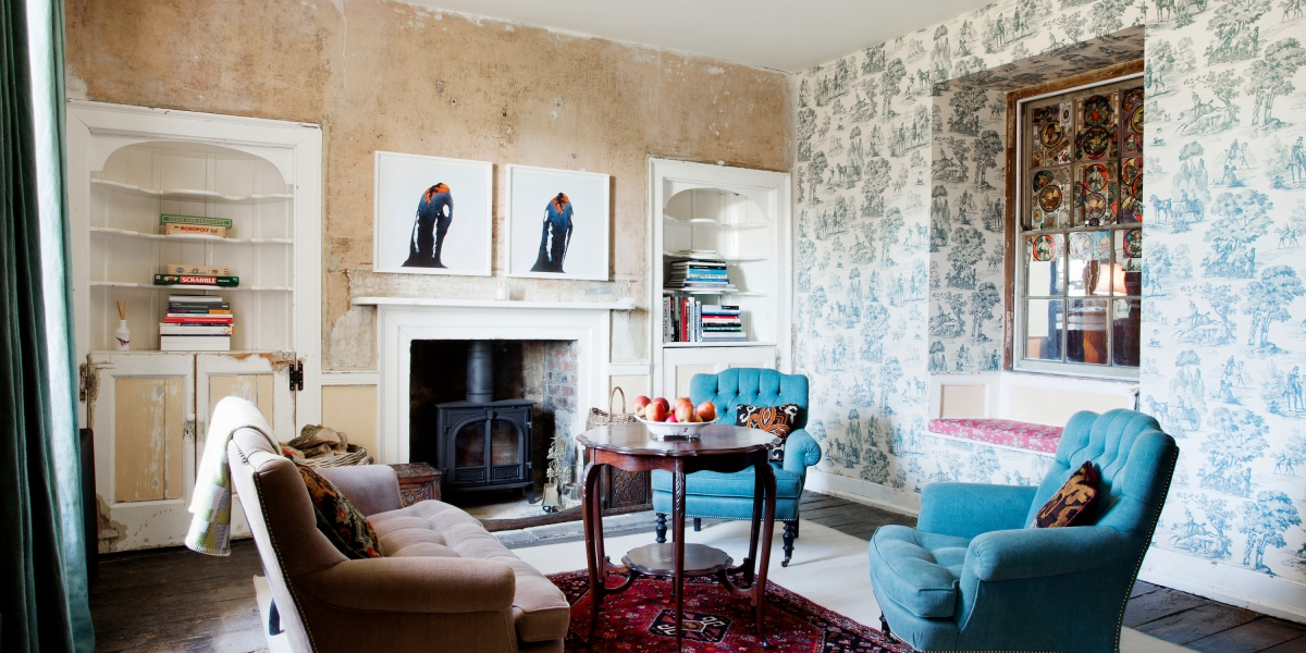Modern Art Meets Old World Charm at This Updated 18th-Century Hotel in the English Countryside