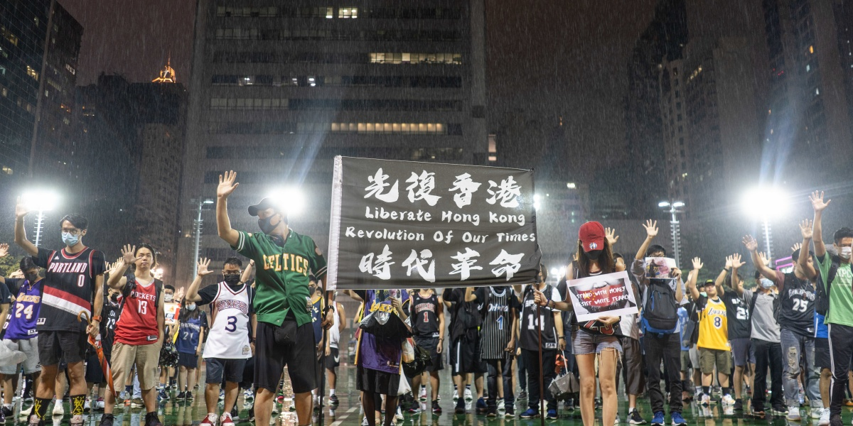 Lebron James Commented on the NBA's China Crisis and Now He's the Target of Hong Kong Protests