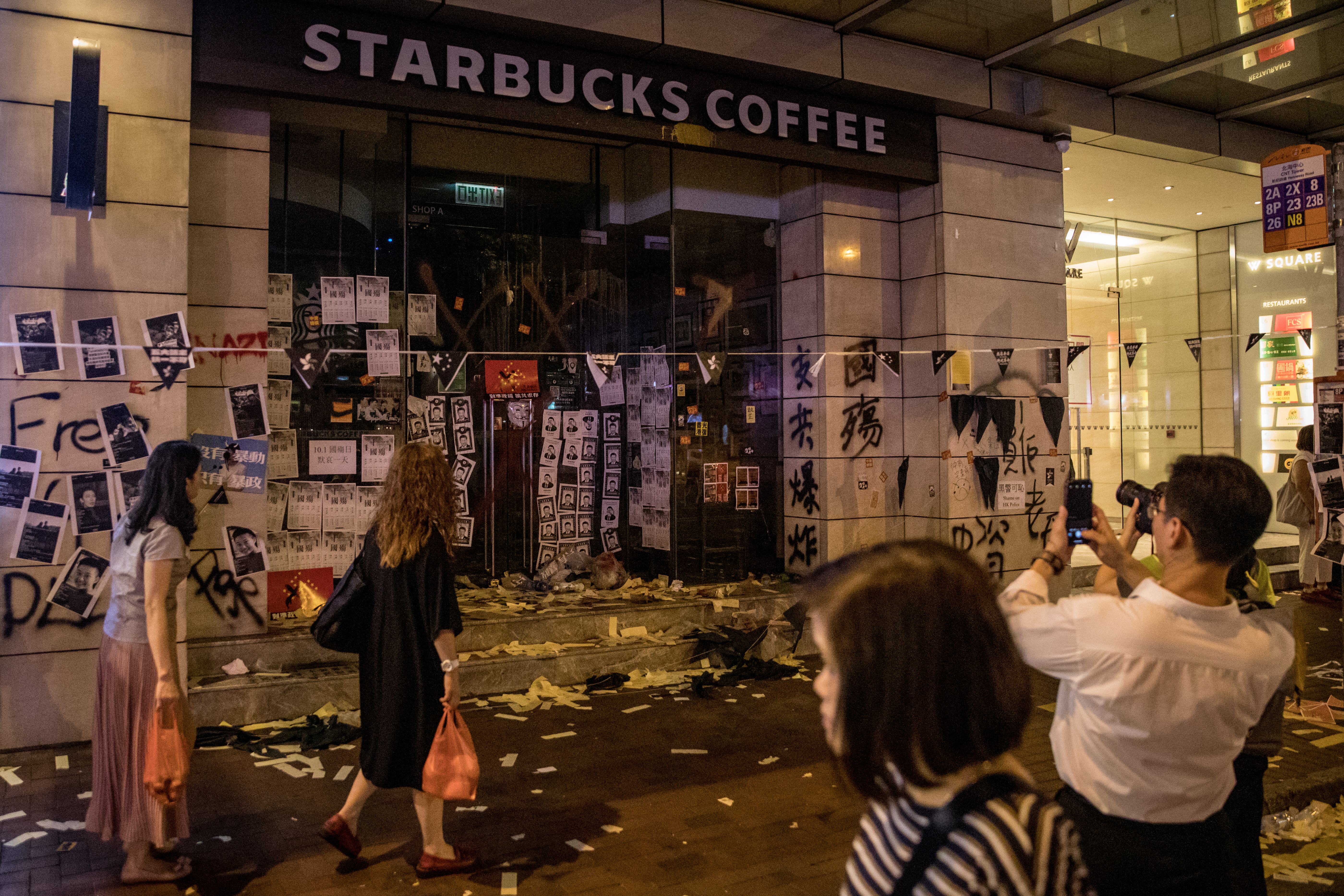 Starbucks Stores In Hong Kong Vandalized Over Maxims Fortune