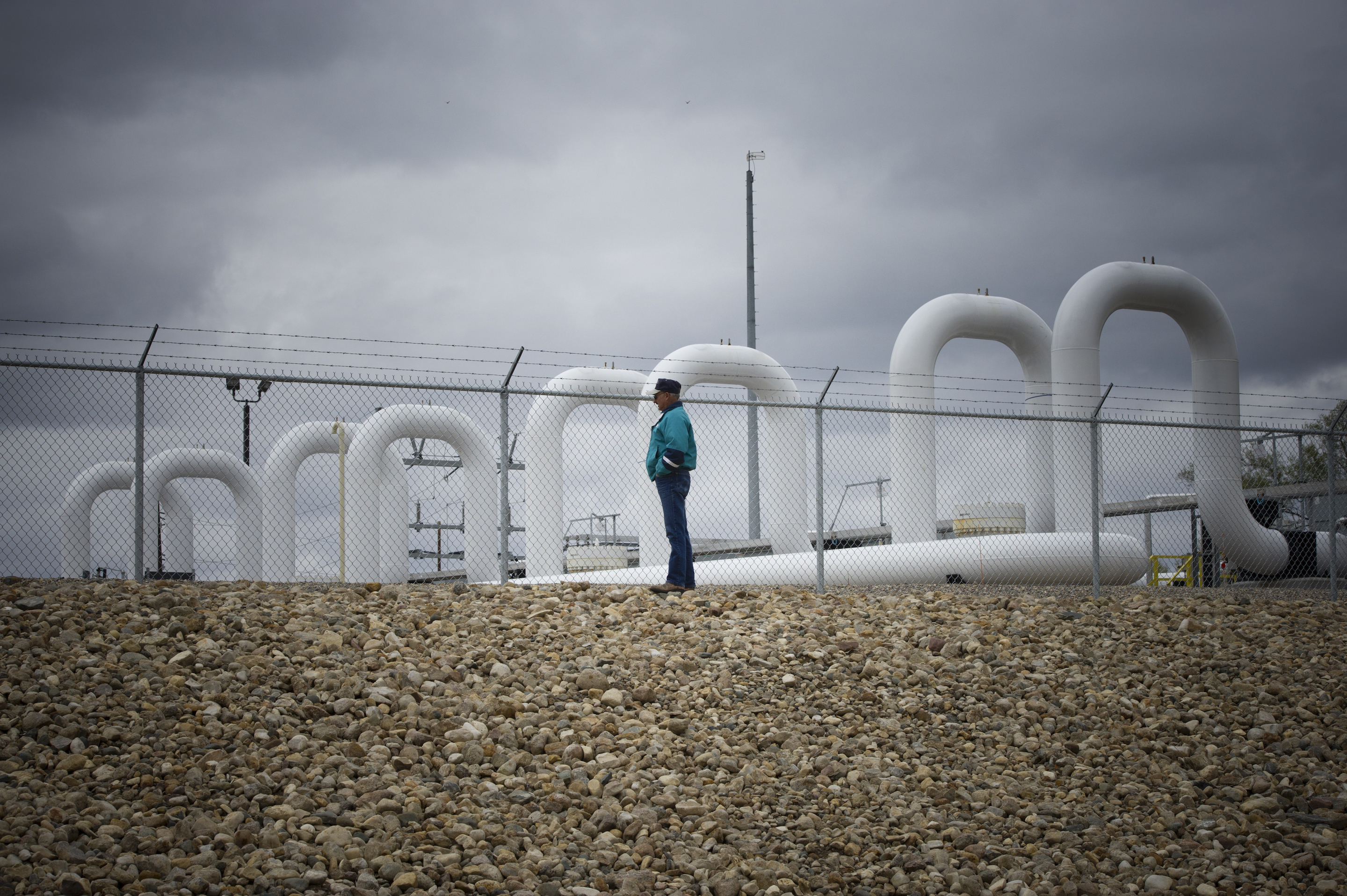 A pumping station along the Keystone pipeline outside Cogswell, N.D. Built in 2011, this week's major oil spill in North Dakota isn't the pipeline's first.