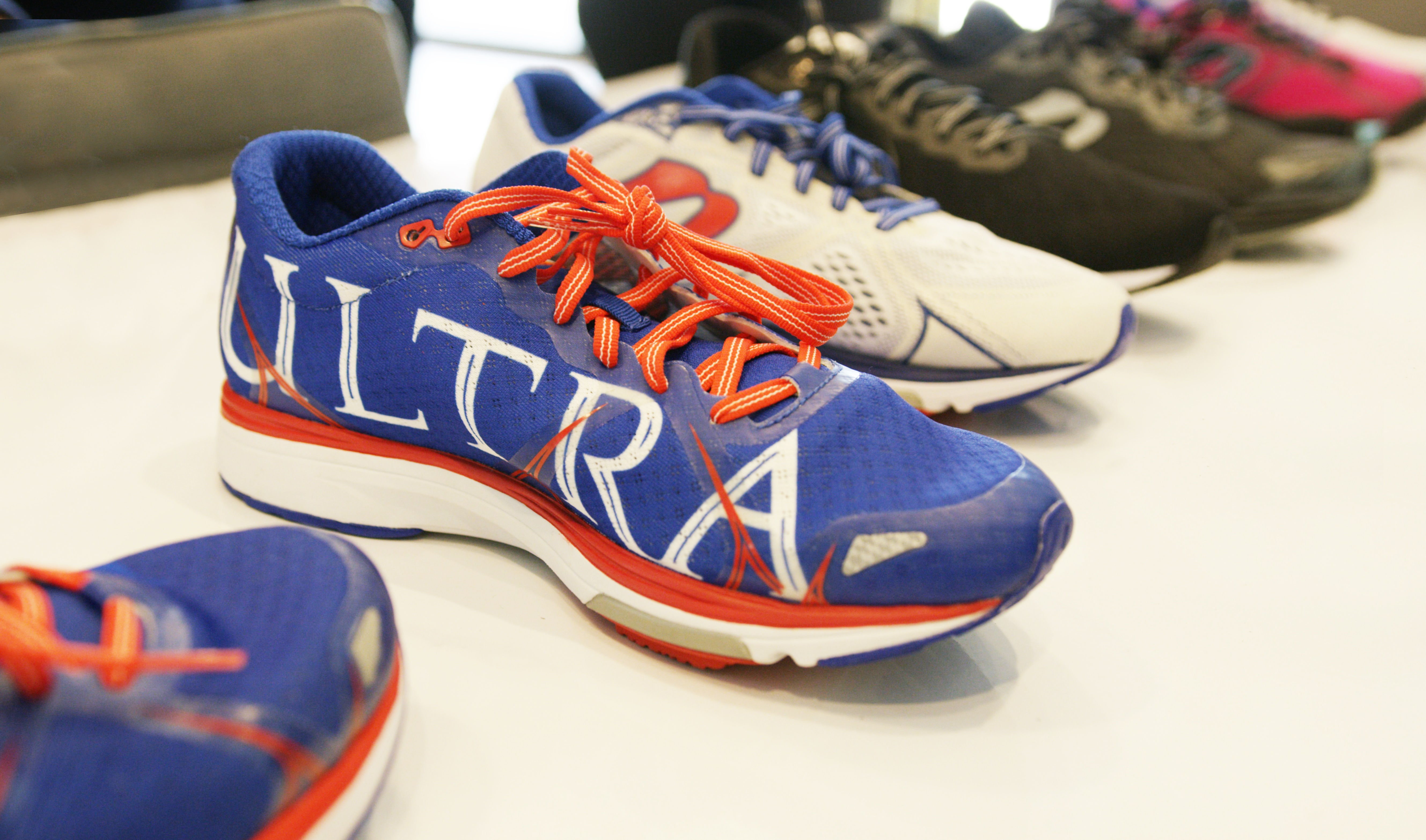 The Newton Ultra branded running shoe