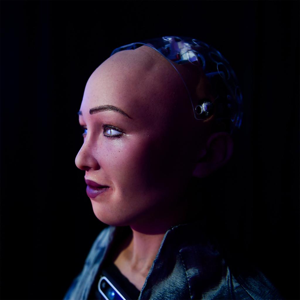 Quite lifelike: Sophia the Robot.