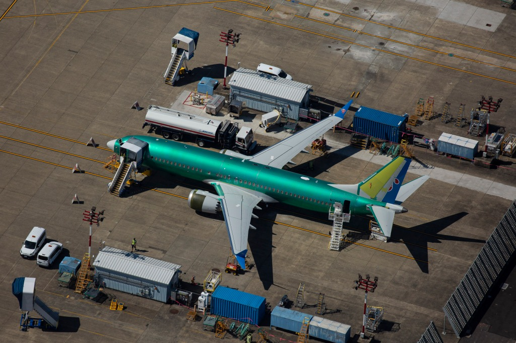 RENTON, WA - AUGUST 13: A Boeing 737 MAX airplane is seen parked at a Boeing facility on August 13, 2019 in Renton, Washington. (Photo by David Ryder/Getty Images)