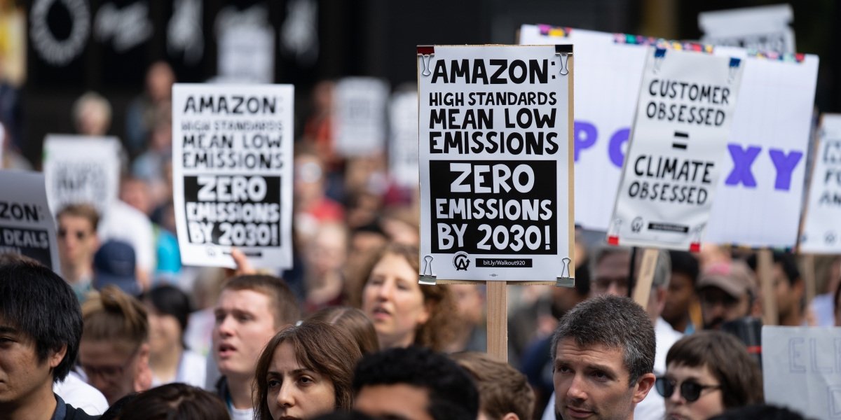 More than 350 Amazon employees risk their jobs to speak about climate crisis - Fortune