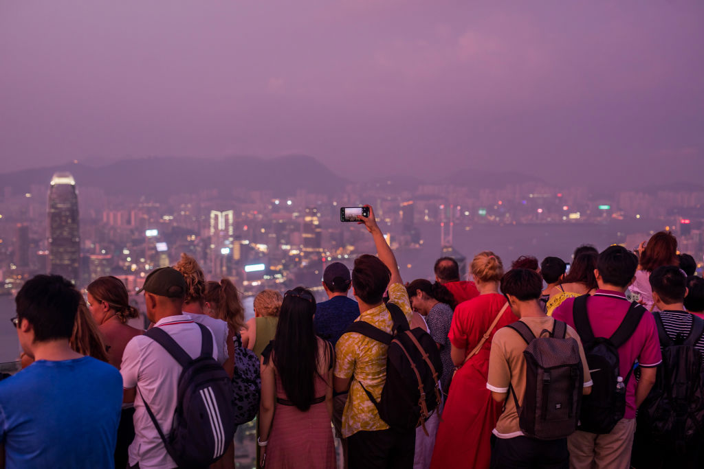 General Views of Victoria Peak And Hotels In Hong Kong As Protests Deter Chinese Tourists