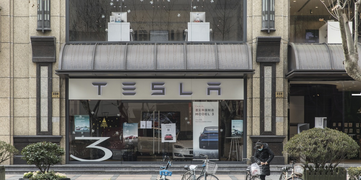 Tesla stock drops 15% in one day as coronavirus craters China car sales
