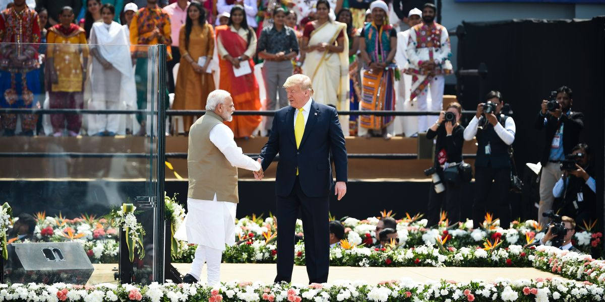 'Namaste Trump:' India's Modi welcomes U.S. president with promised pageantry as trade tensions simmer