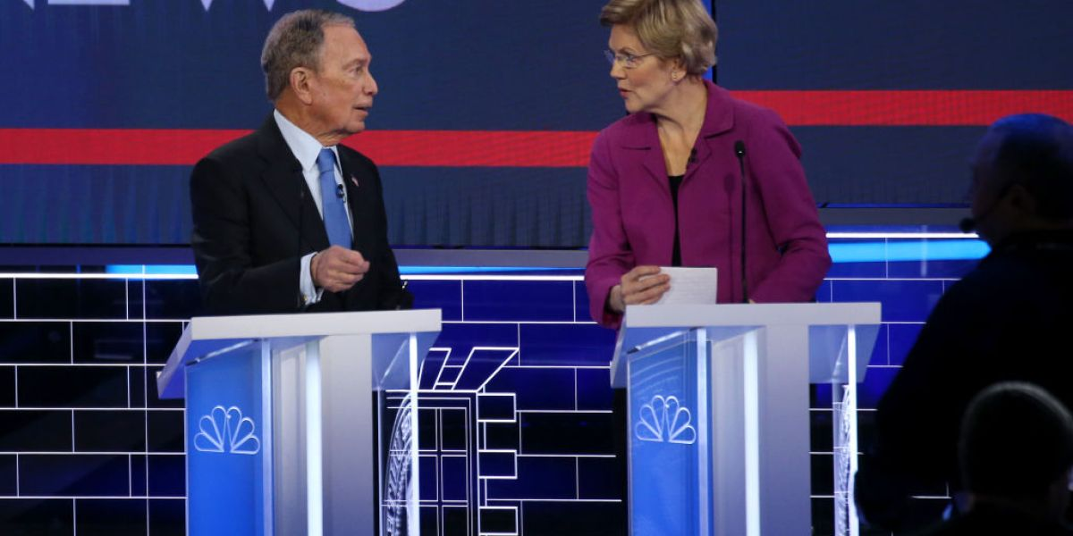 Elizabeth Warren and Mike Bloomberg take NDAs primetime in Dem debate